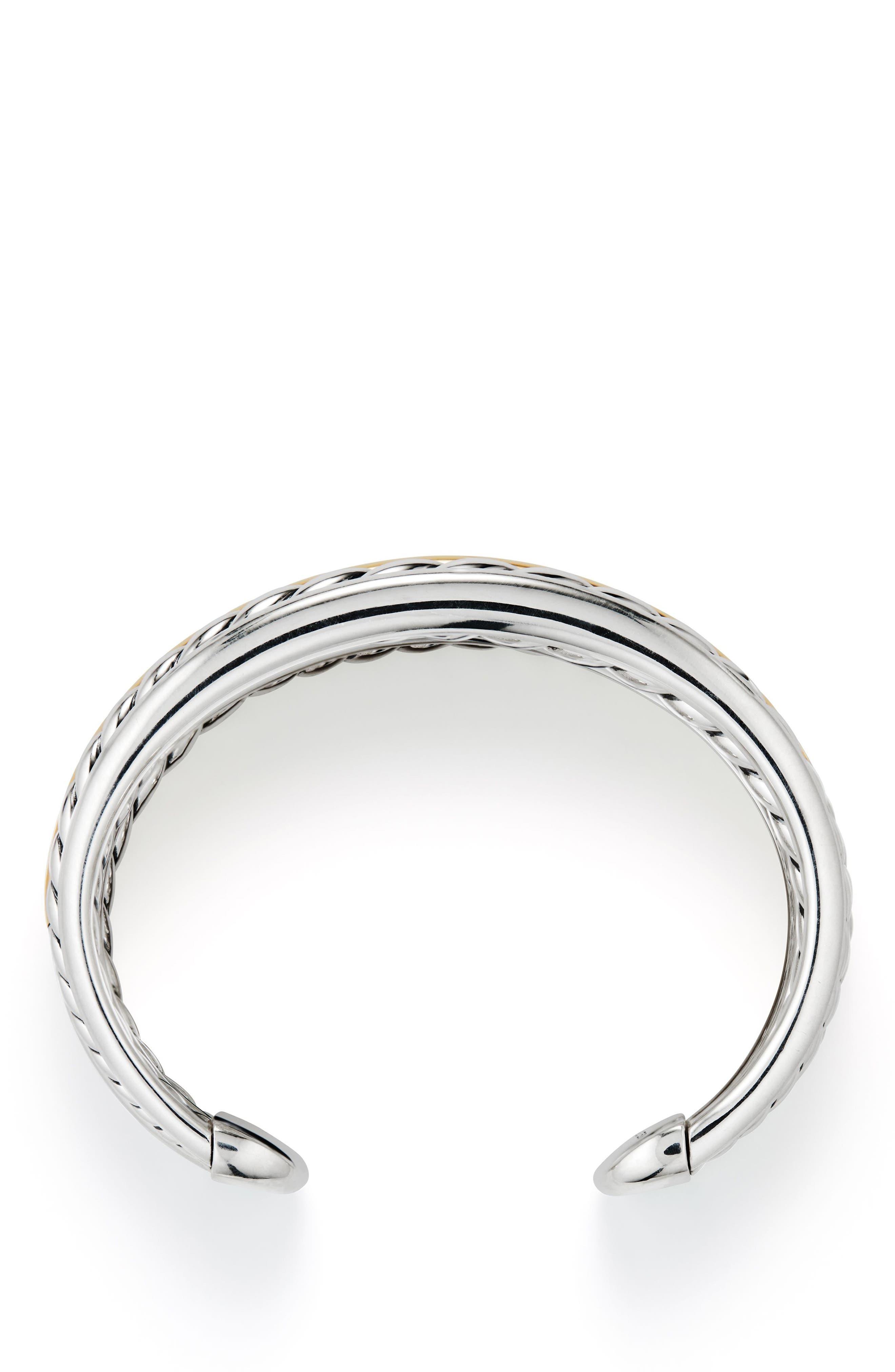 Pure Form<sup>®</sup> Cuff Bracelet,                             Alternate thumbnail 2, color,                             Gold/ Silver