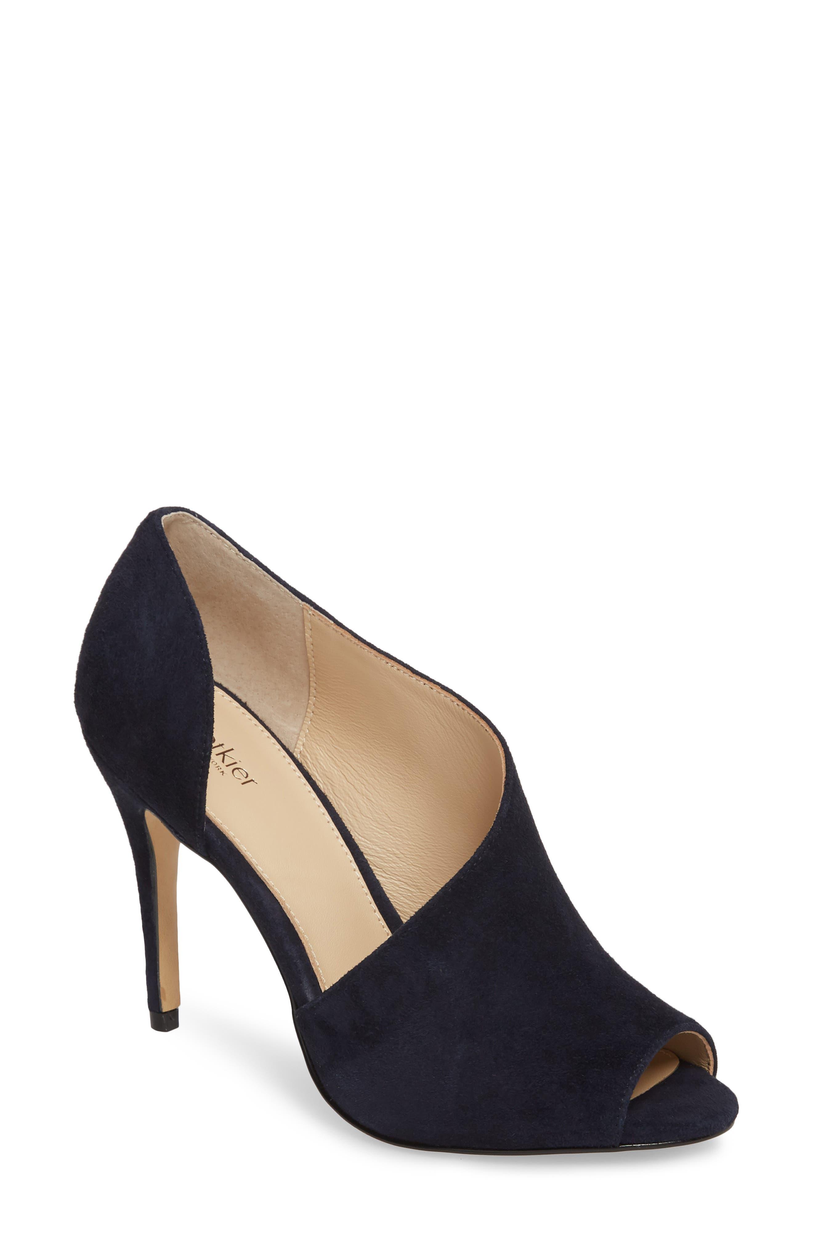 Adelia Asymmetrical Sandal,                         Main,                         color, Navy Suede