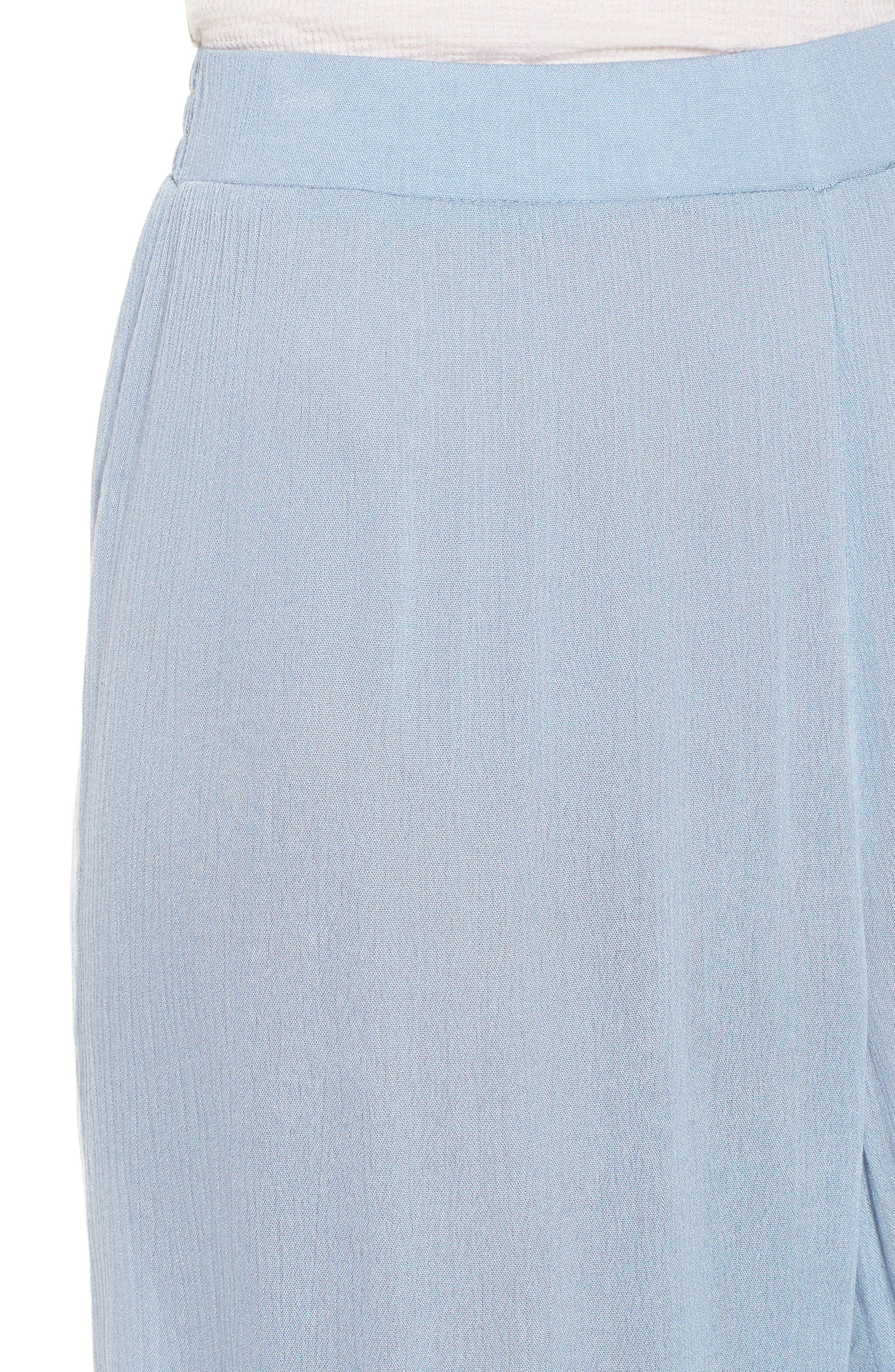 Mystique Ruffle Hem Beach Pants,                             Alternate thumbnail 6, color,                             Blue