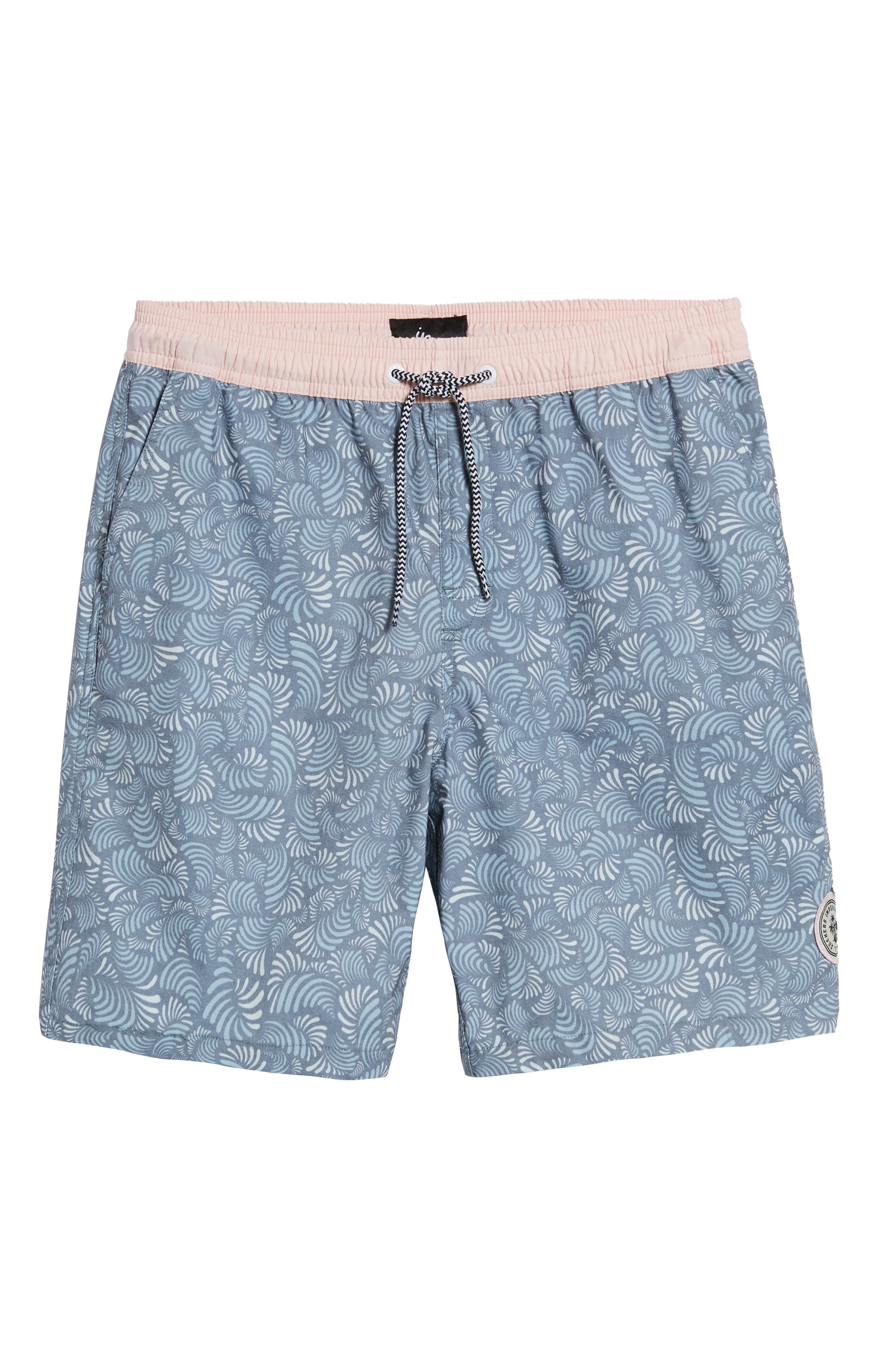 Hayworth Mix Board Shorts,                             Alternate thumbnail 6, color,                             Light Pink/ Blue