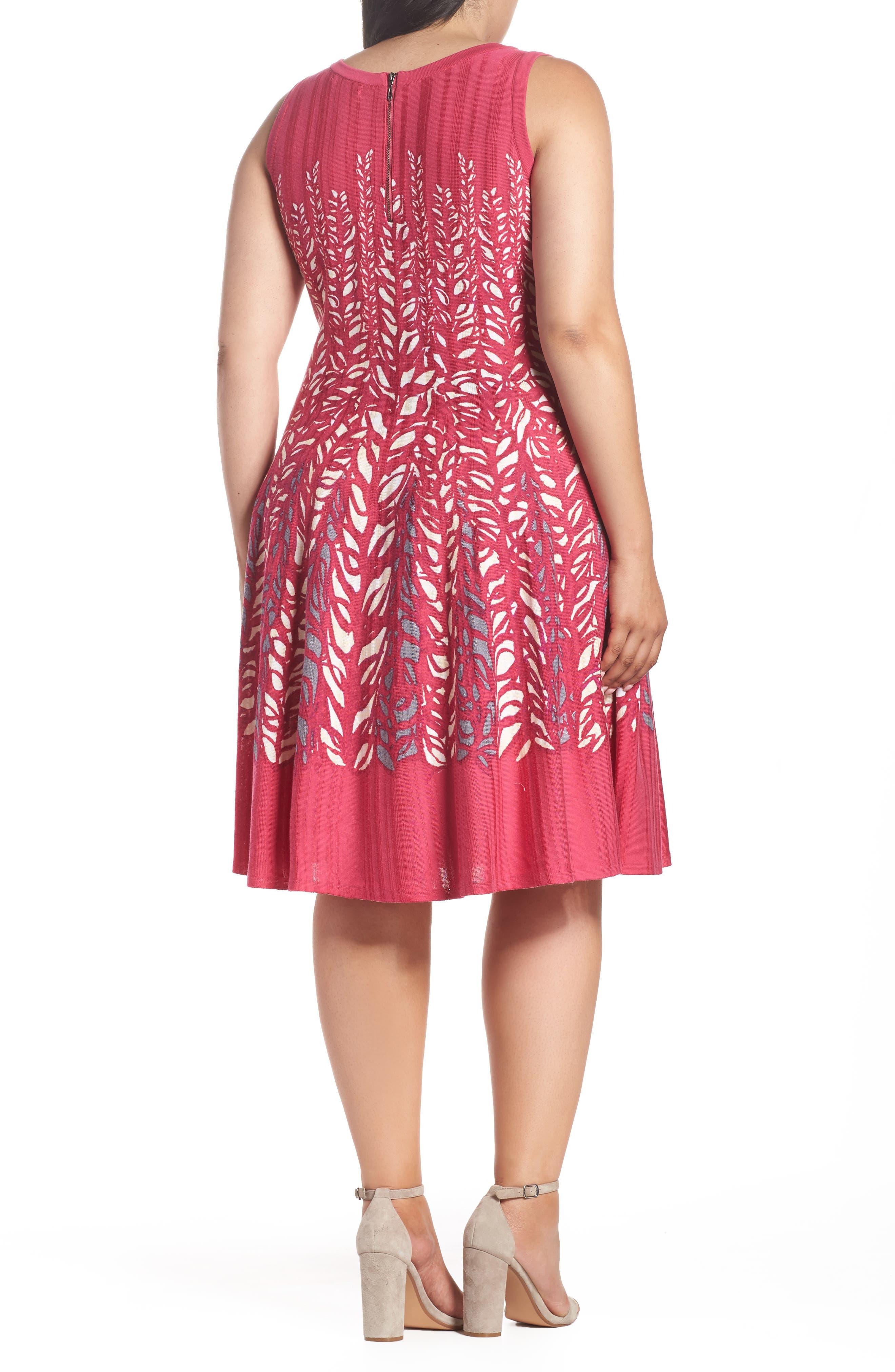 Tango Twirl Fit & Flare Knit Dress,                             Alternate thumbnail 2, color,                             Multi