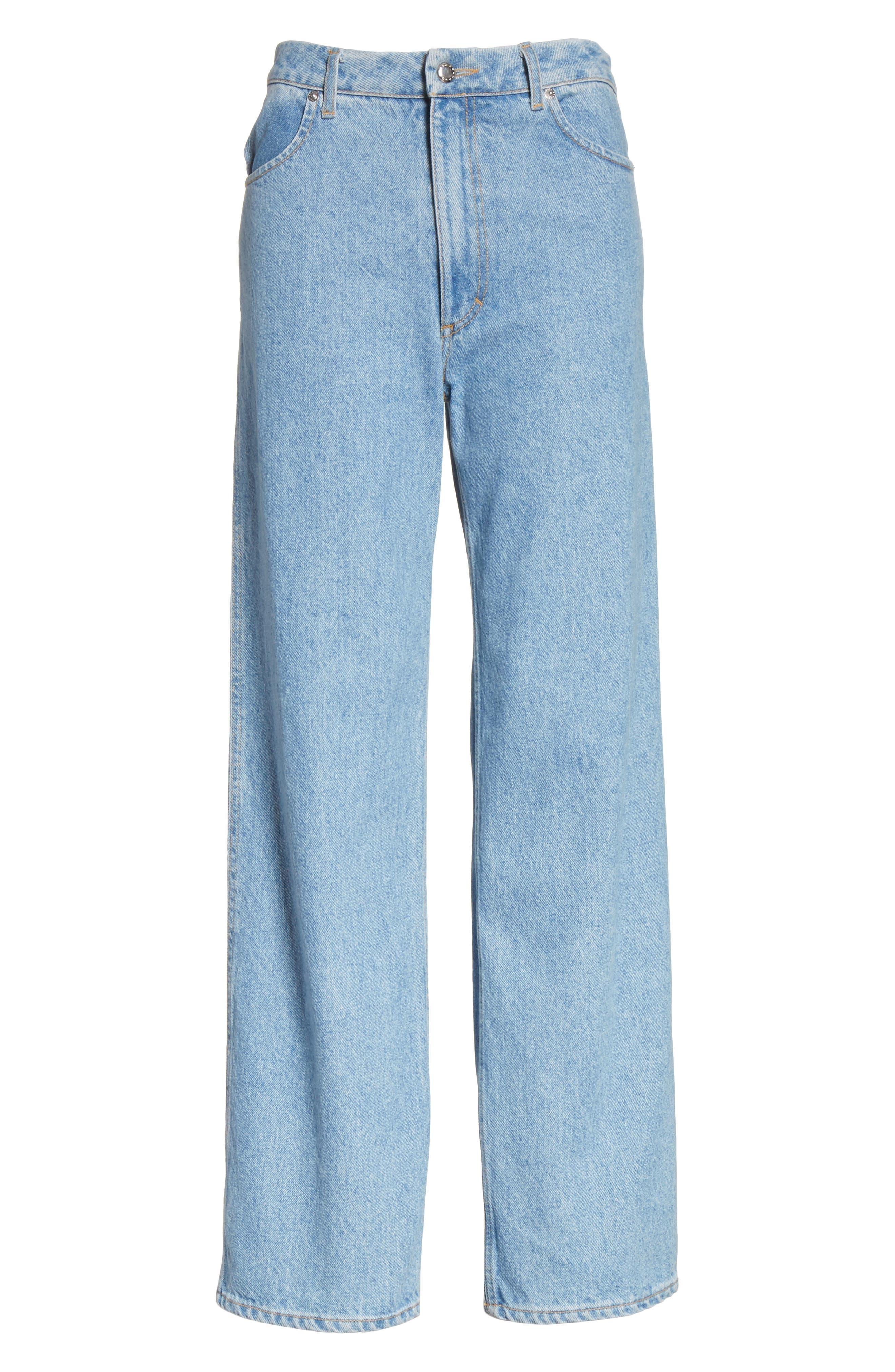 EL Wide Leg Jeans,                             Alternate thumbnail 6, color,                             True Blue