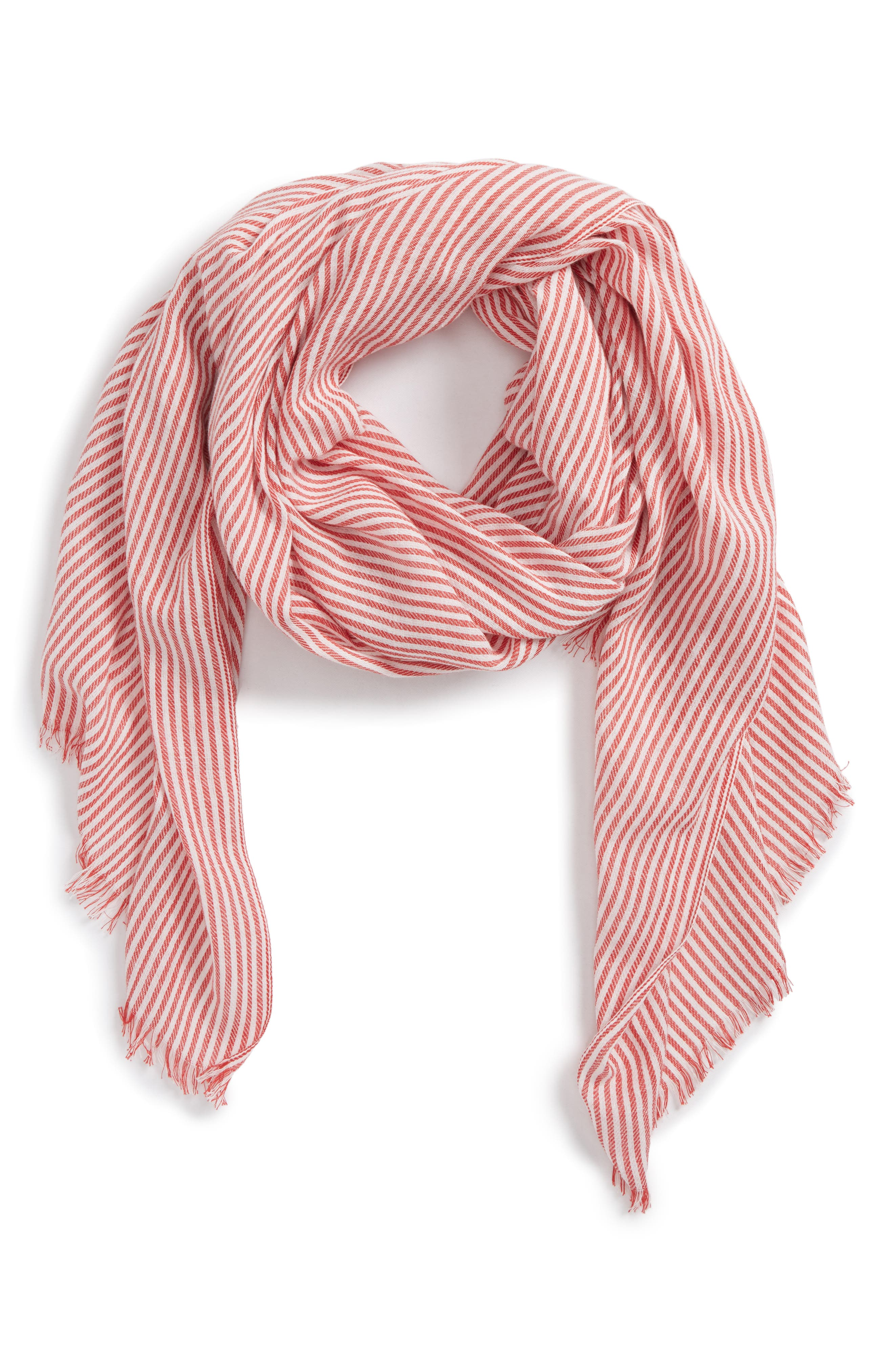 Engineer Stripe Scarf,                         Main,                         color, Red Multi