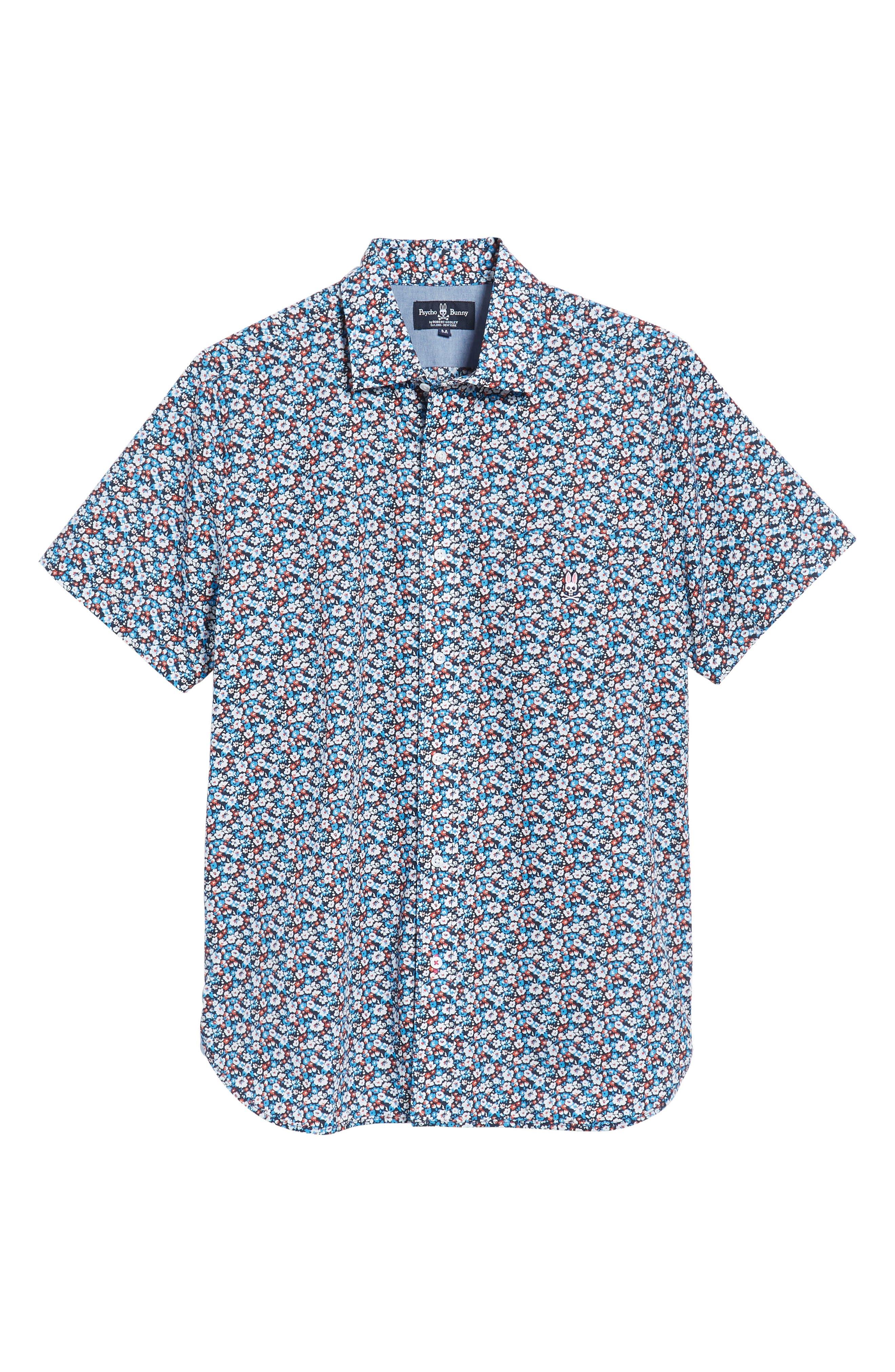 Woven Shirt,                             Alternate thumbnail 6, color,                             Navy