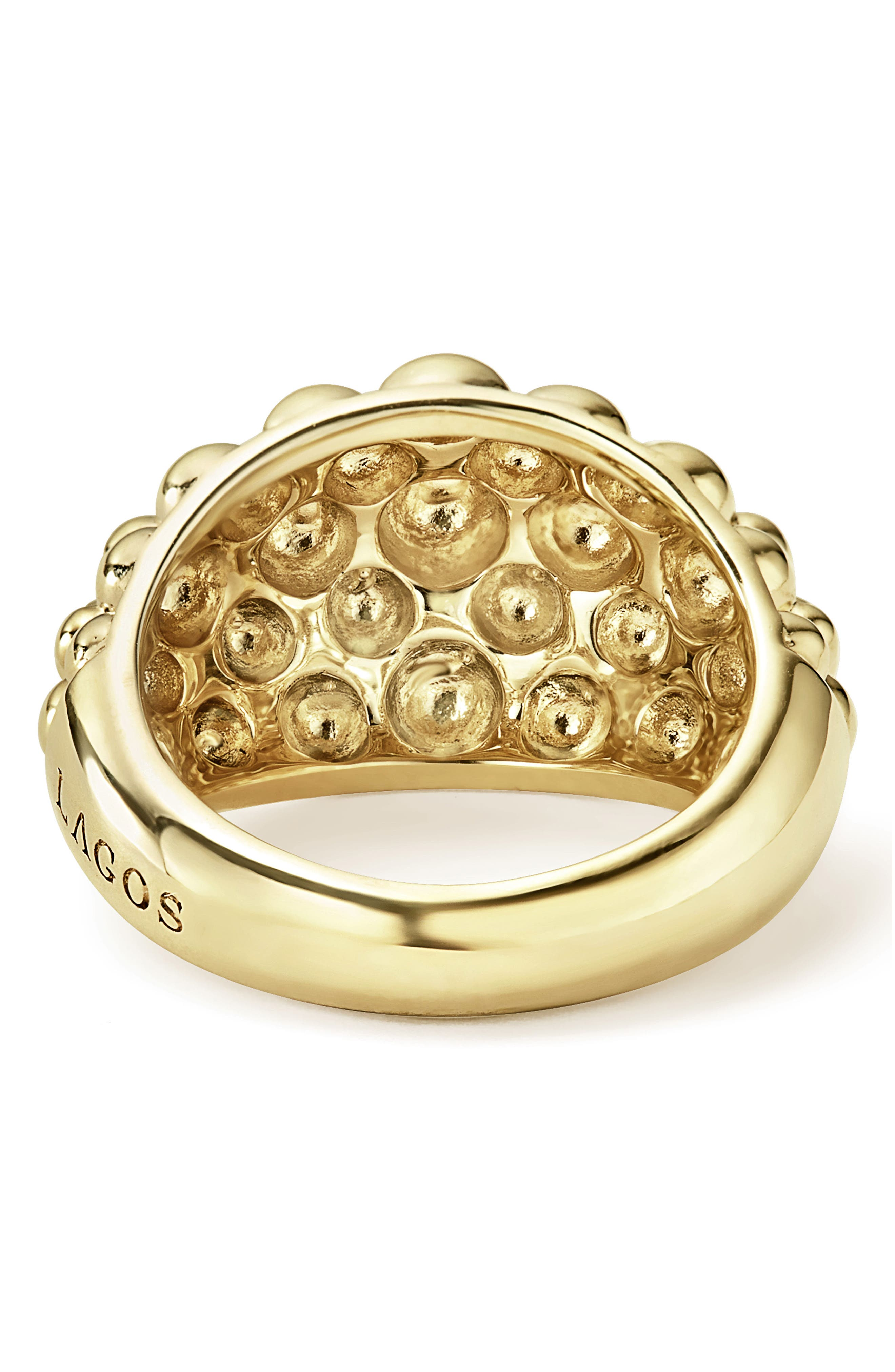Caviar Gold Bold Dome Ring,                             Alternate thumbnail 4, color,                             Gold