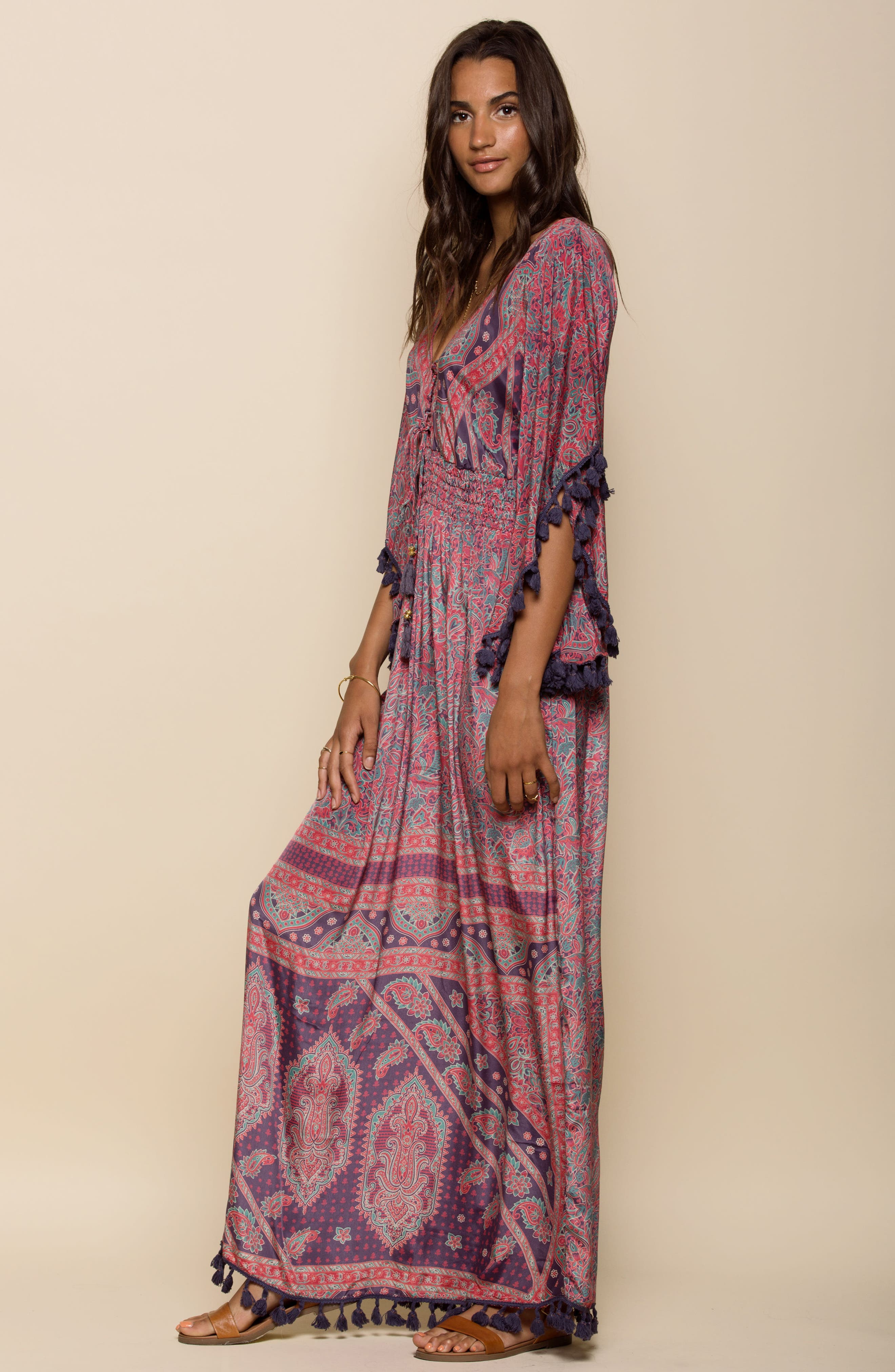 Electric Love Maxi Dress,                             Alternate thumbnail 8, color,