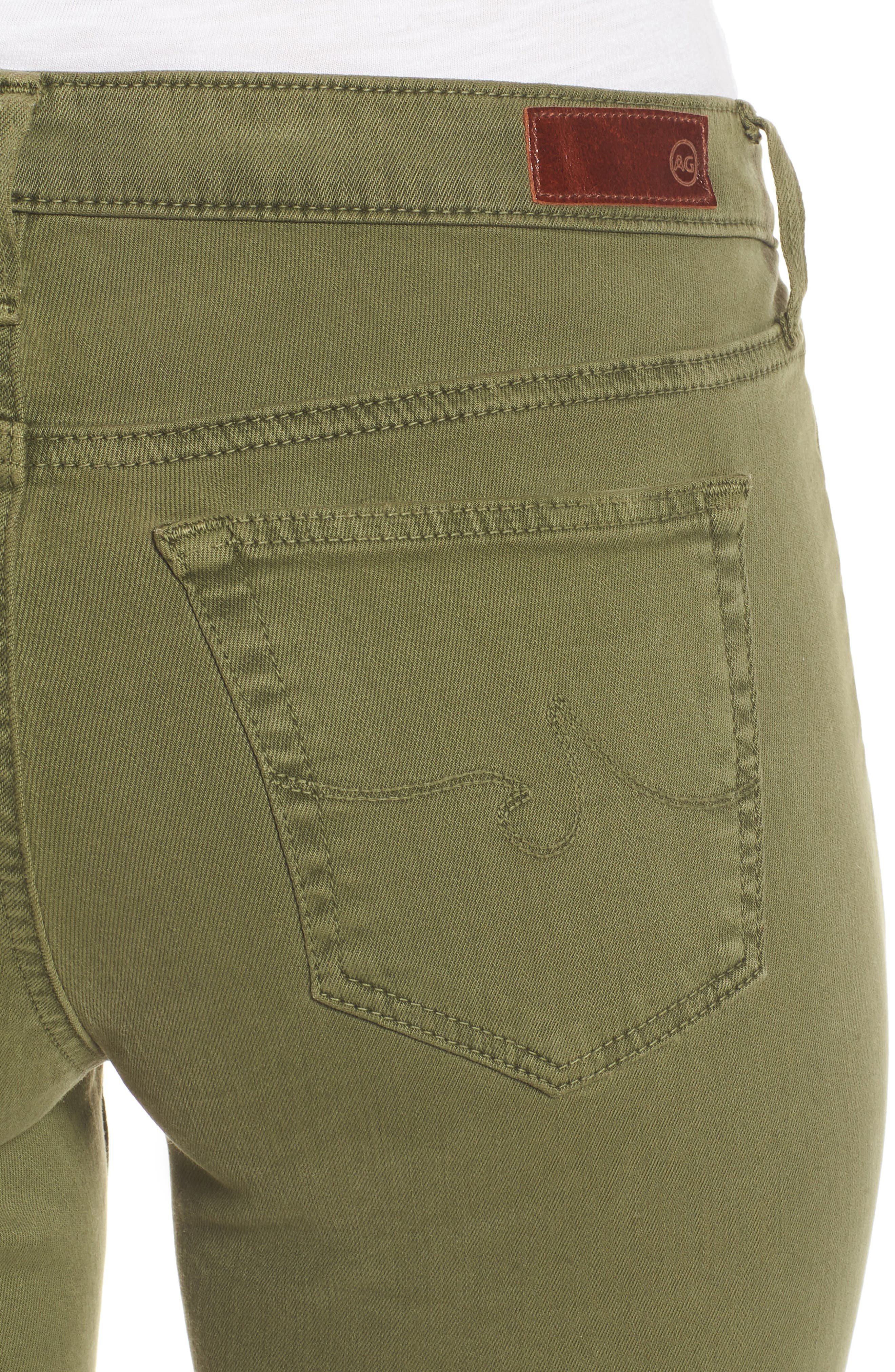 'The Legging' Ankle Jeans,                             Alternate thumbnail 4, color,                             Sulfur Olive Grove