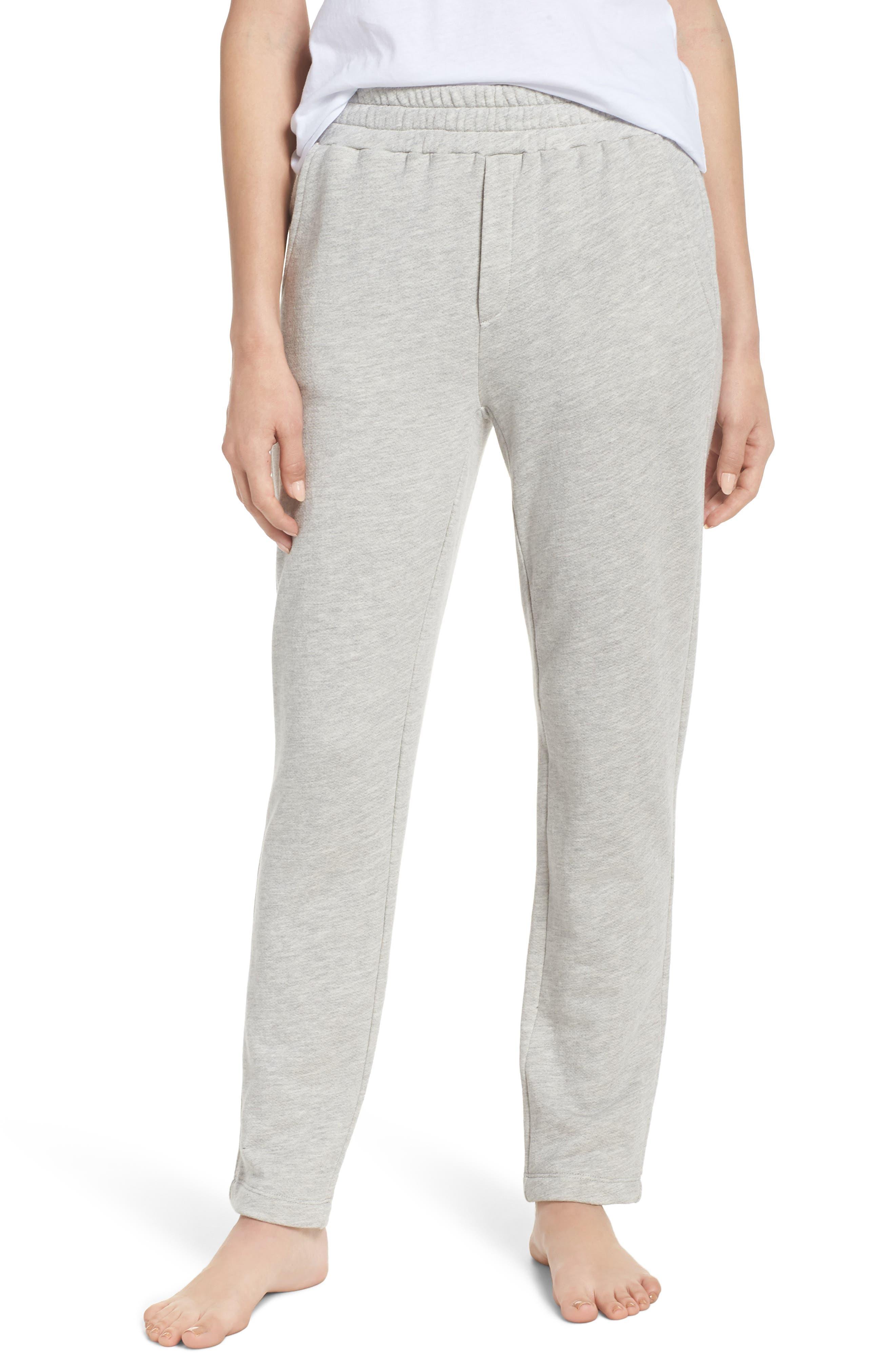 Terry Pajama Pants,                             Main thumbnail 1, color,                             Grey Terry