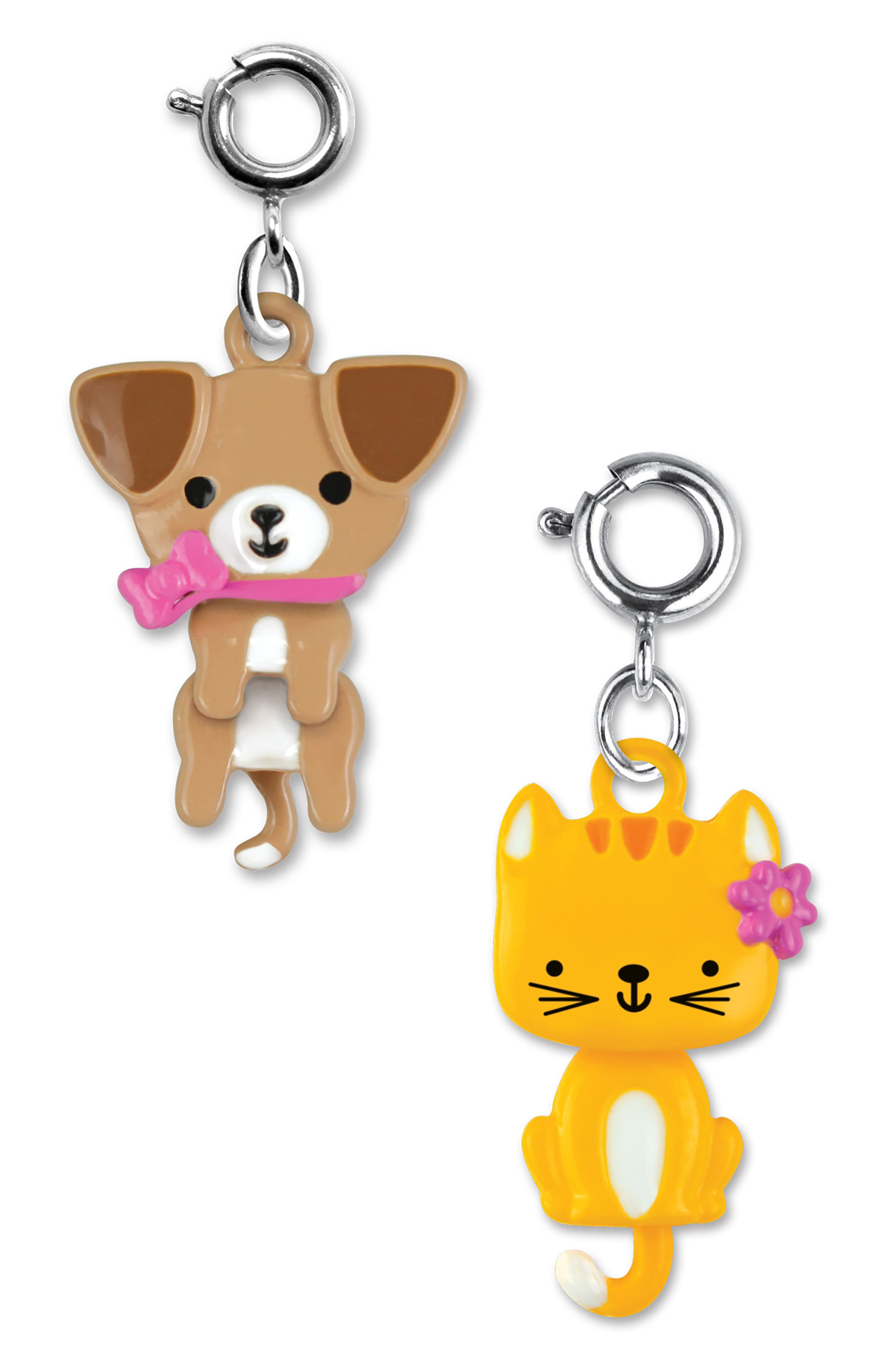 CHARM IT!<sup>®</sup> 2-Pack Swivel Kitty & Puppy Charms,                             Alternate thumbnail 2, color,                             Multi
