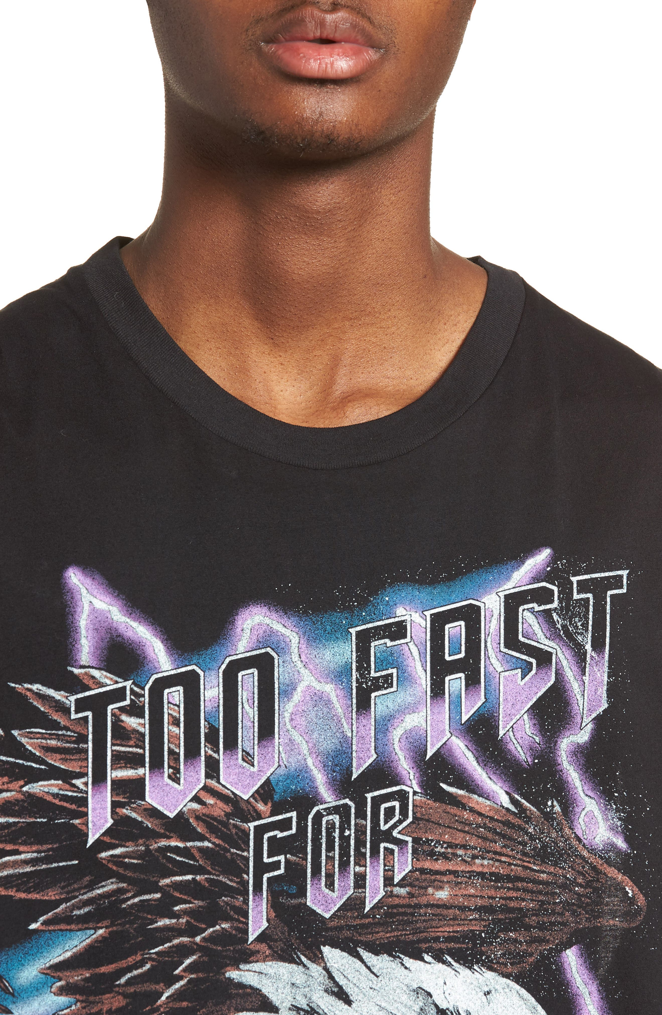 Too Fast for Love Muscle T-Shirt,                             Alternate thumbnail 4, color,                             Black