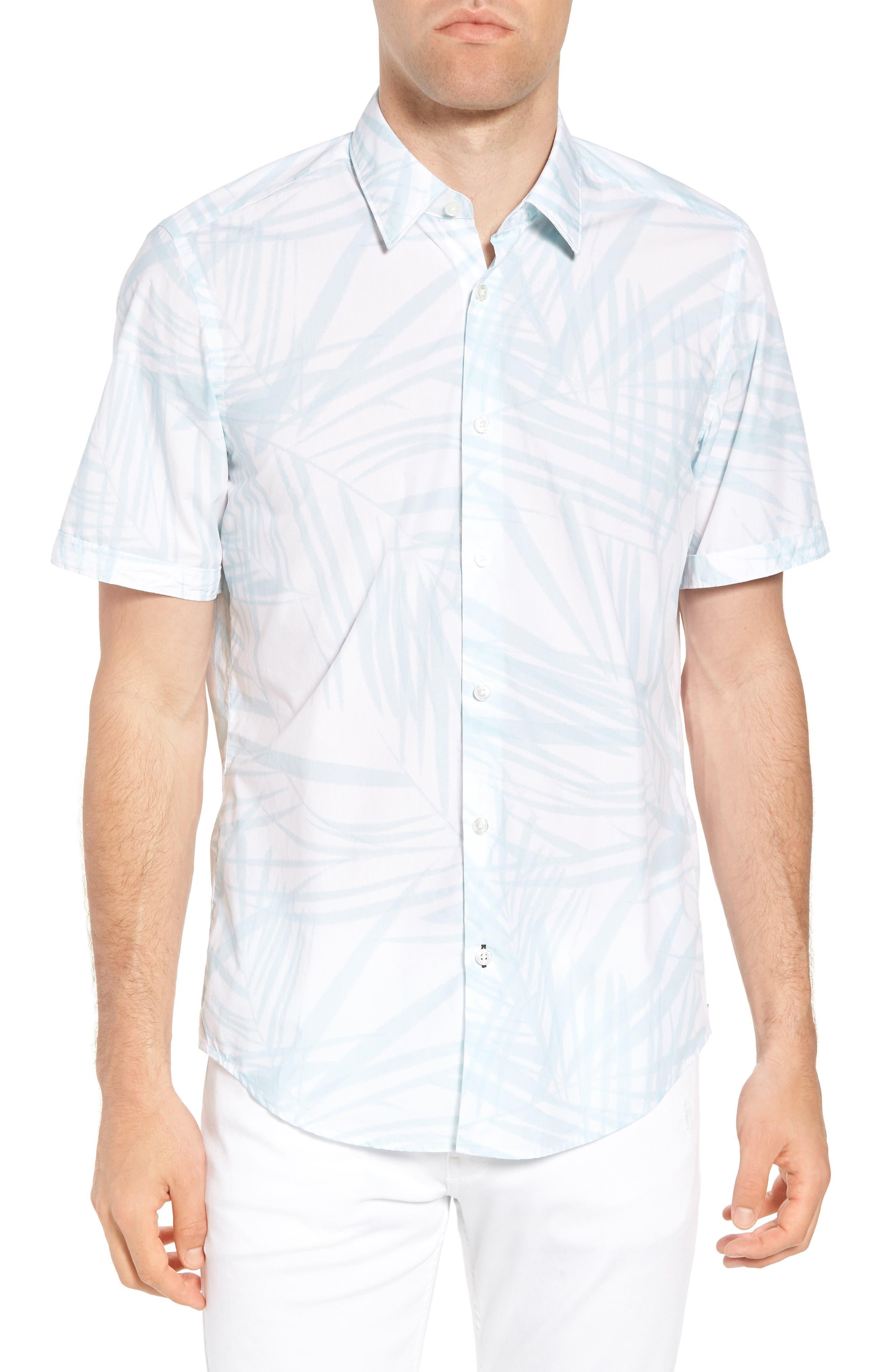 Luka Regular Fit Short Sleeve Sport Shirt,                         Main,                         color, Blue