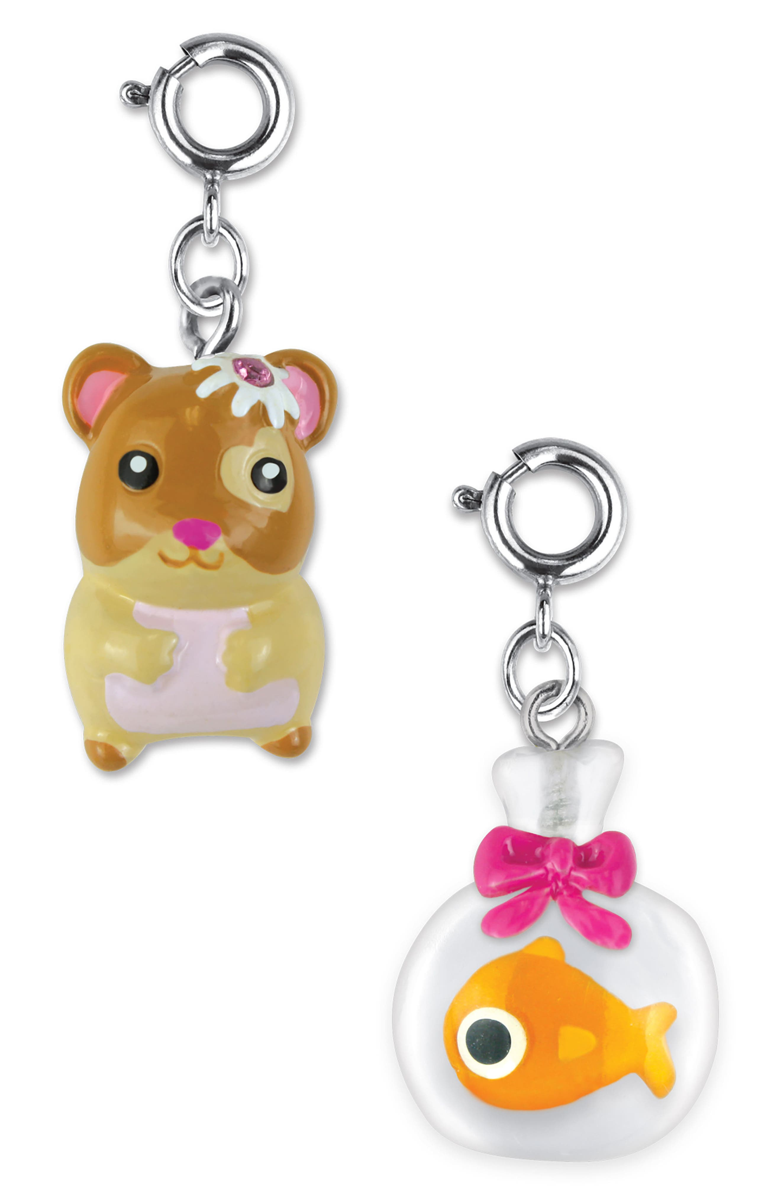 CHARM IT!<sup>®</sup> 2-Pack Hamster & Goldfish Charms,                             Main thumbnail 1, color,                             Multi