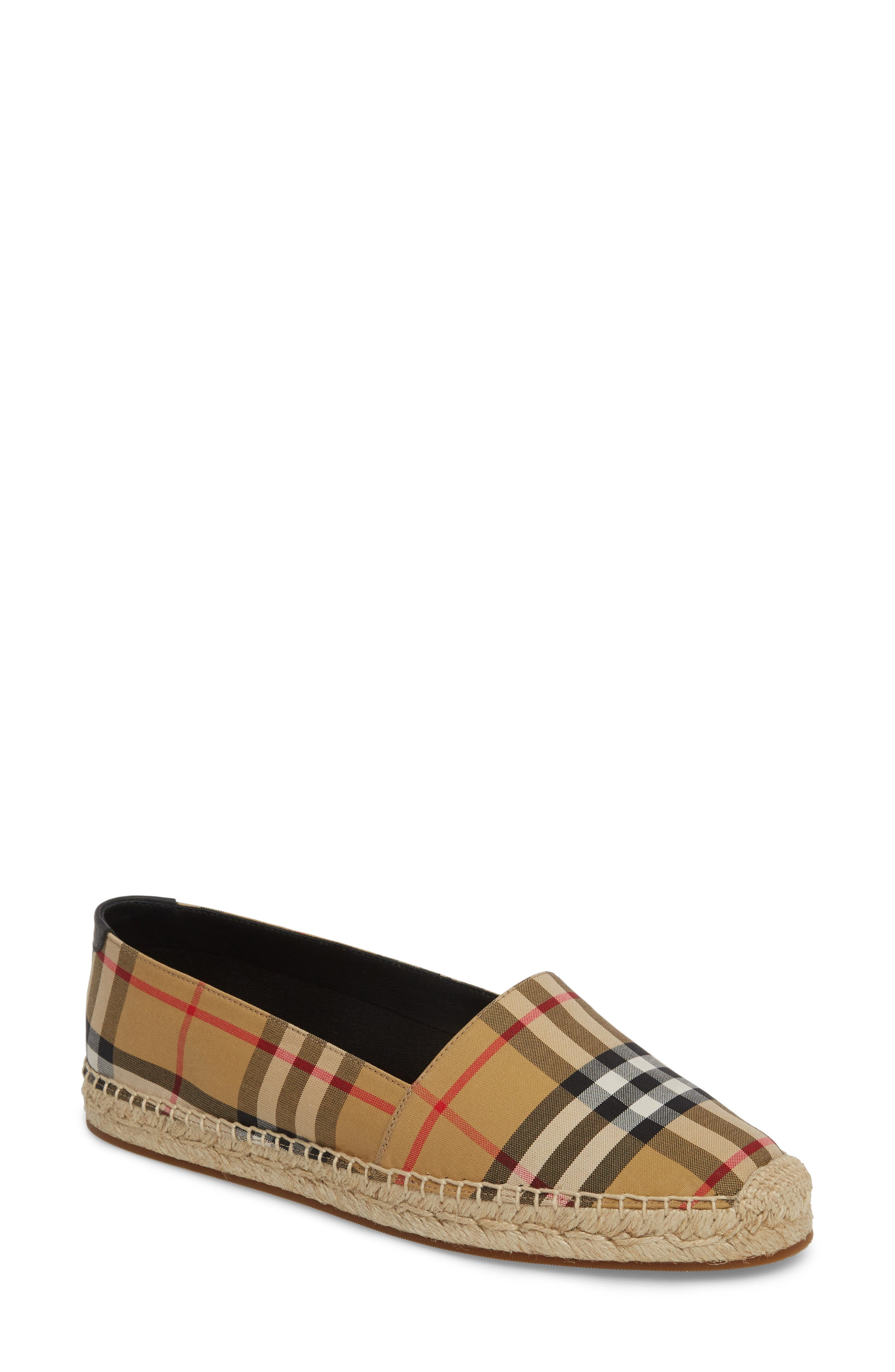 Hodgeson Check Espadrille Flat,                             Main thumbnail 1, color,                             Yellow