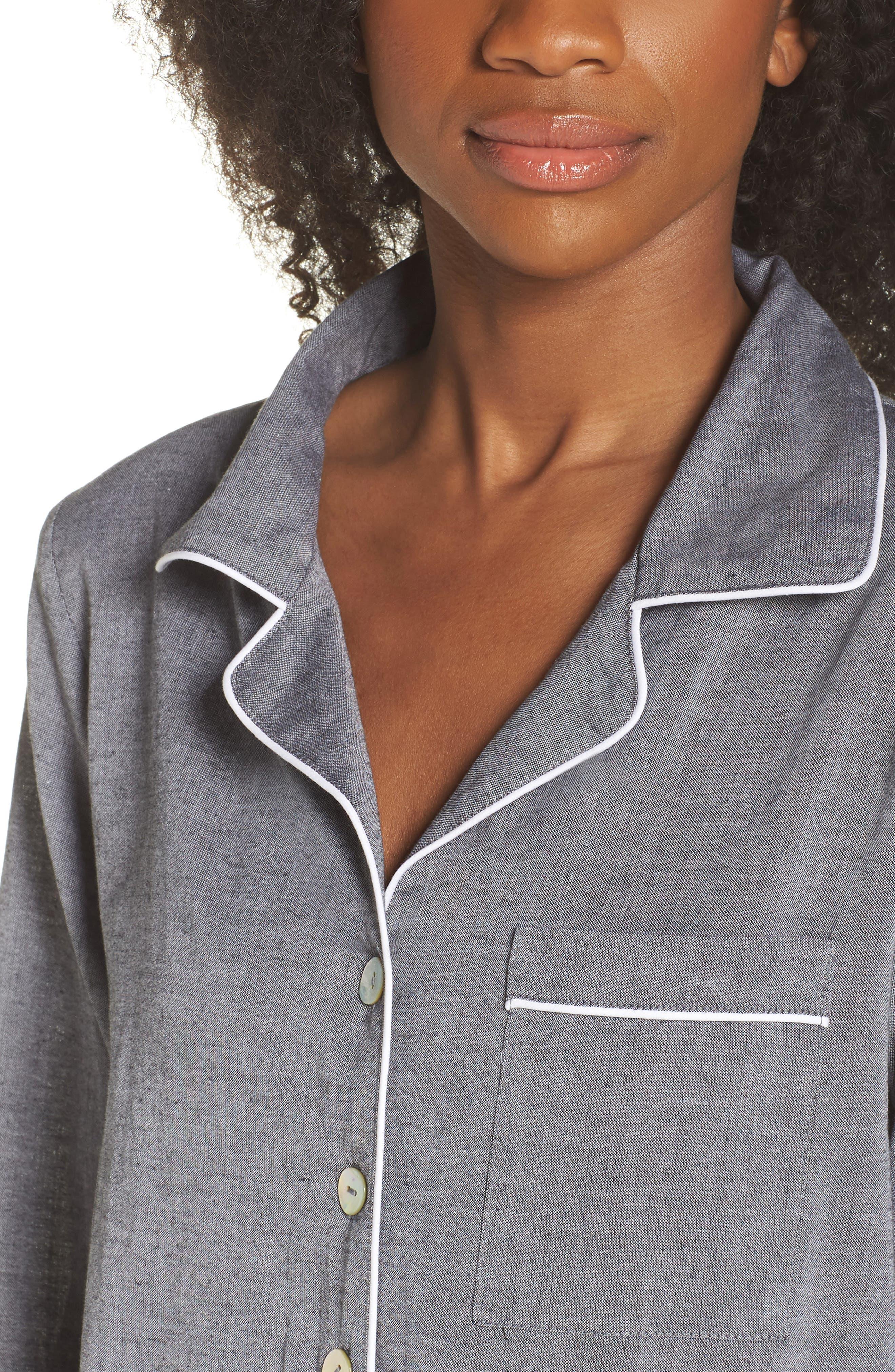 Short Pajamas,                             Alternate thumbnail 4, color,                             Charcoal