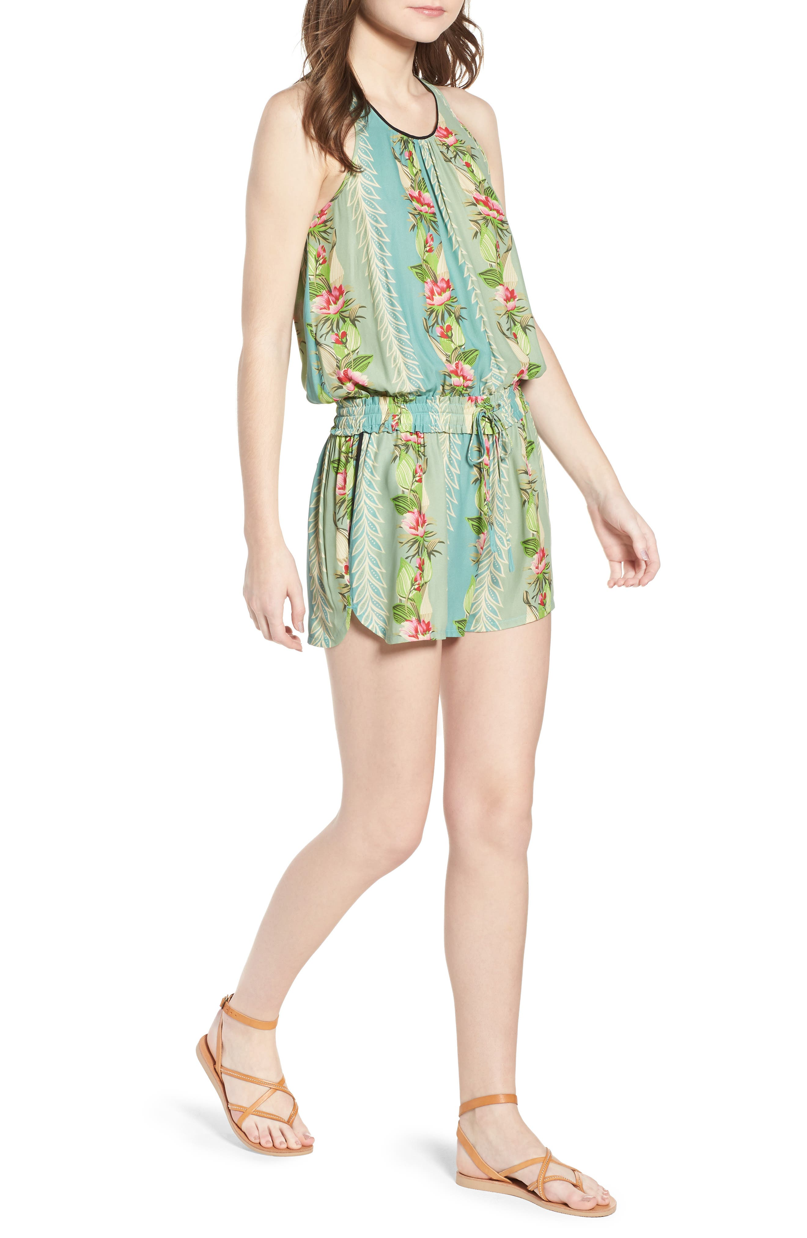 Print All in One Romper,                             Main thumbnail 1, color,                             Color 17 Combo A
