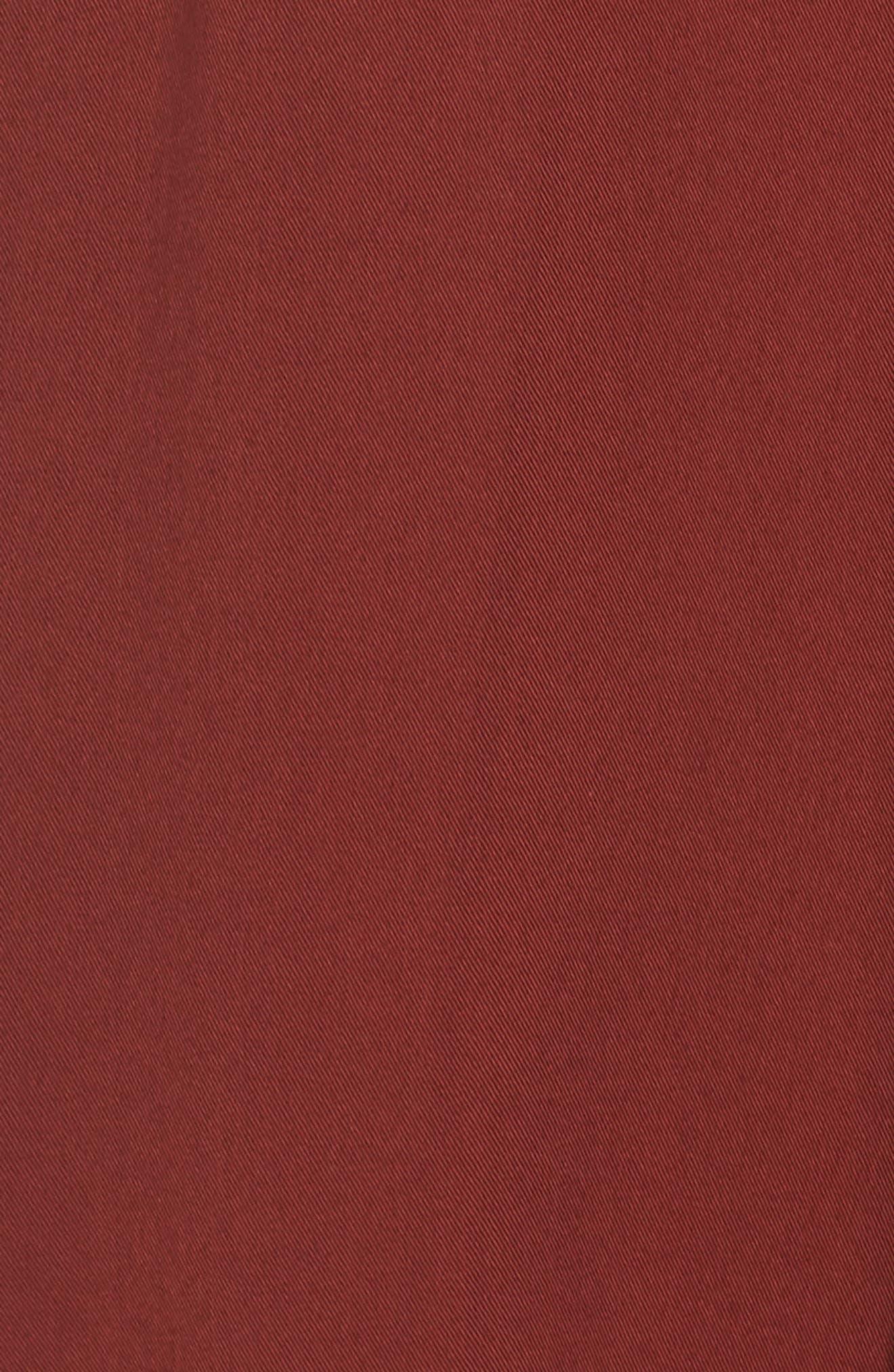 East Smocked Crop Jumpsuit,                             Alternate thumbnail 6, color,                             Cinnamon