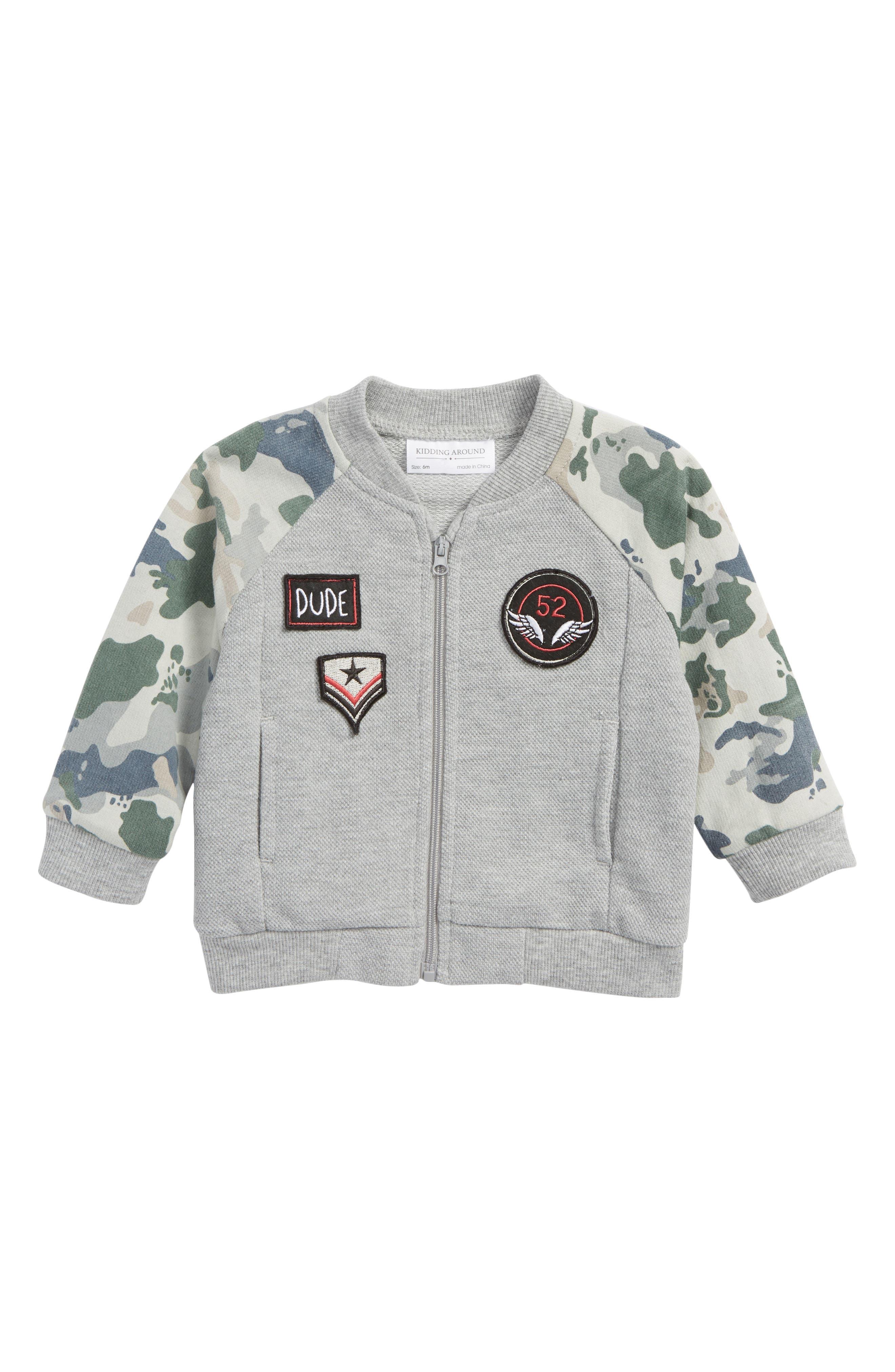 Knit Jacket,                             Main thumbnail 1, color,                             Camo Grey