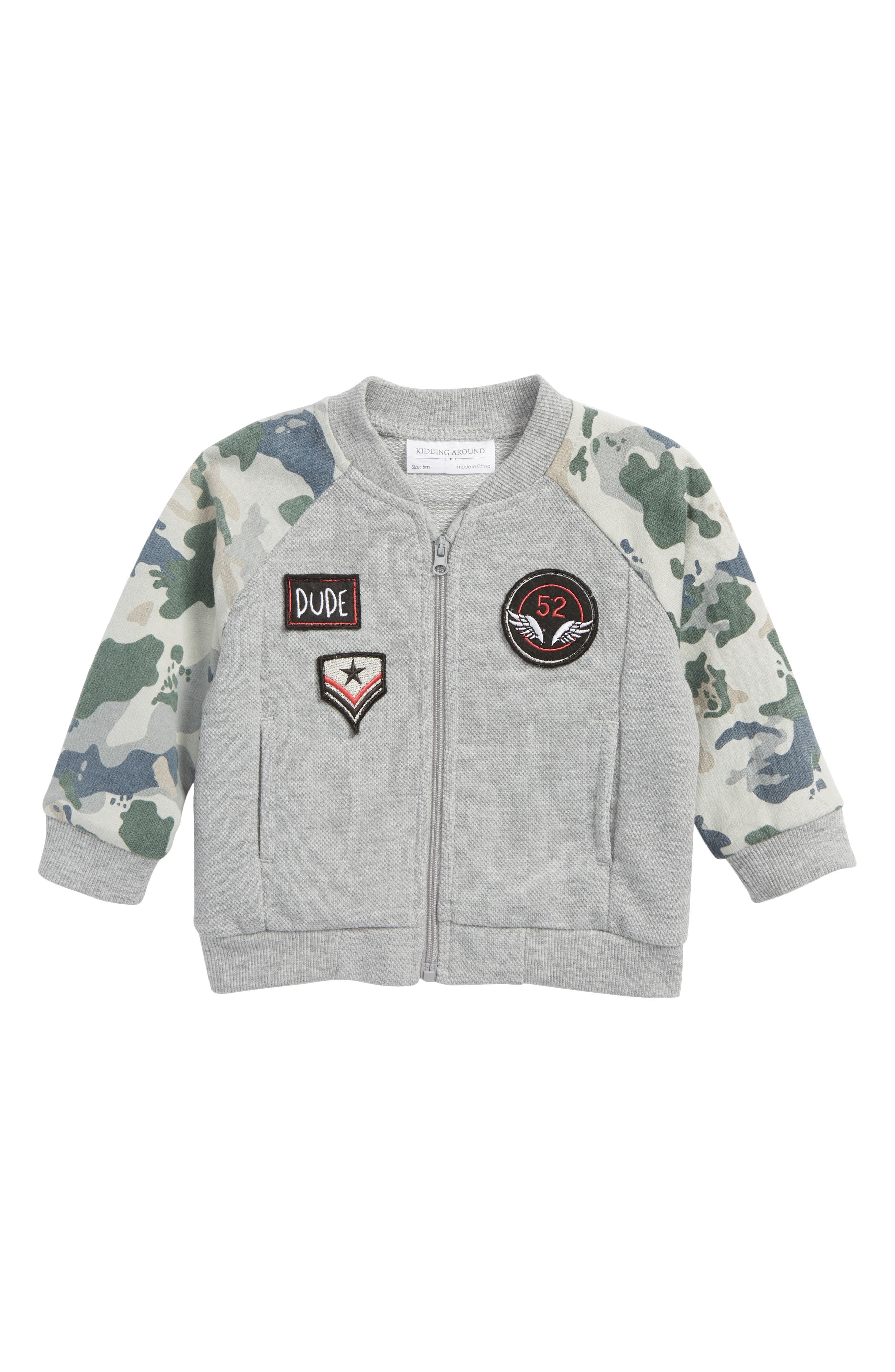Knit Jacket,                         Main,                         color, Camo Grey