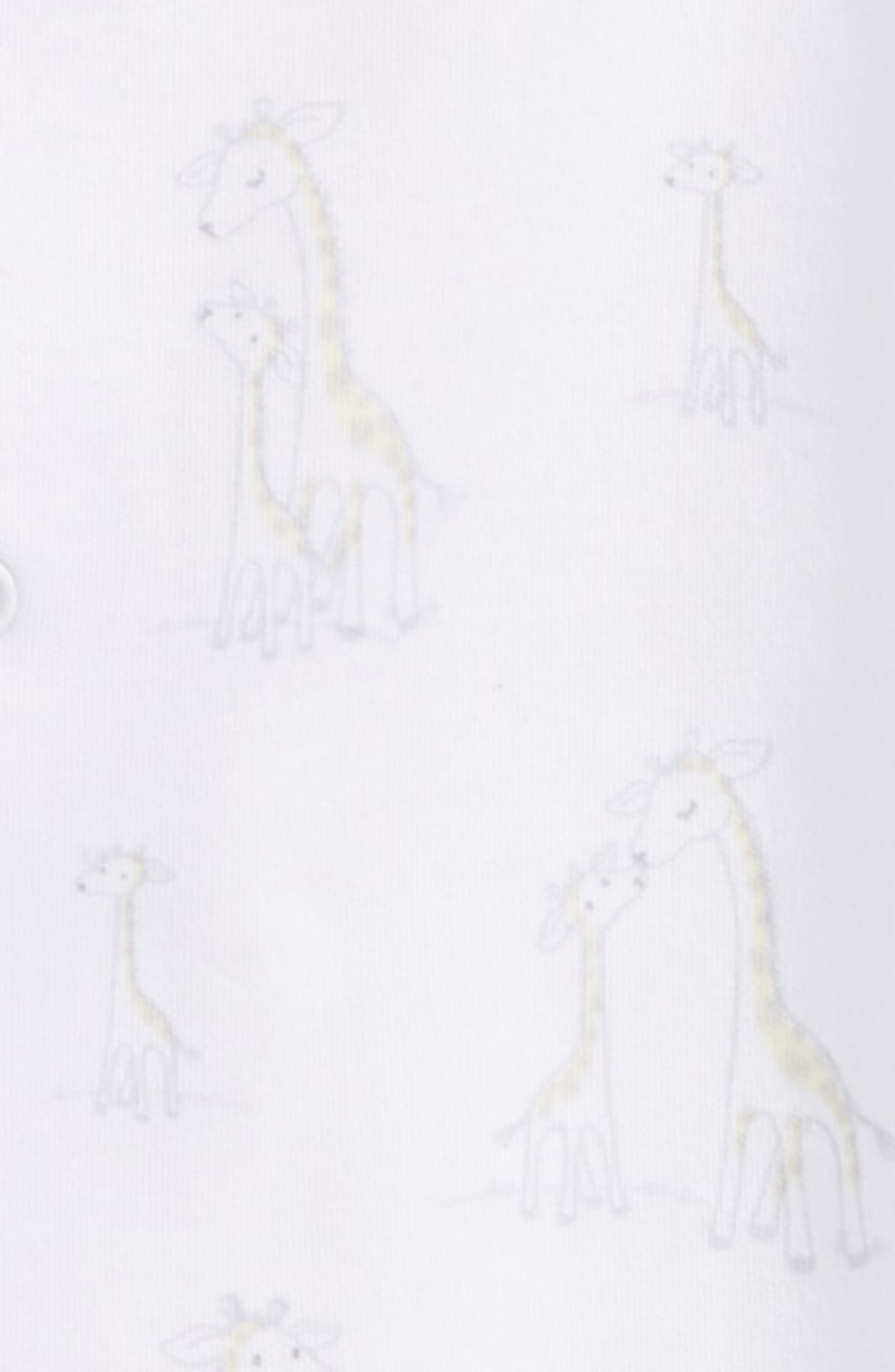 Giraffe Generations Footie,                             Alternate thumbnail 2, color,                             Ivory