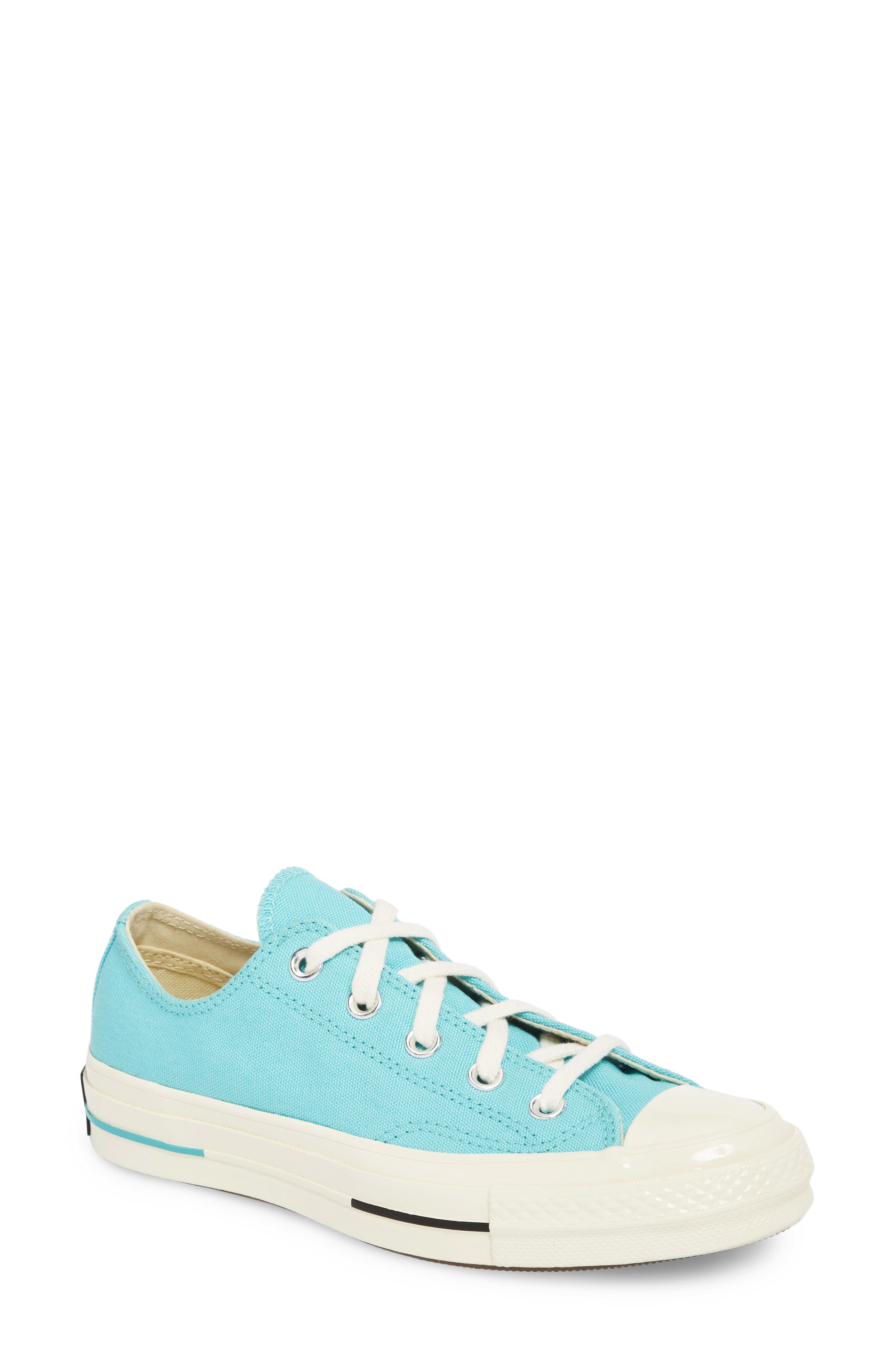 Chuck Taylor<sup>®</sup> All Star<sup>®</sup> '70s Brights Low Top Sneaker,                         Main,                         color, Bleached Aqua
