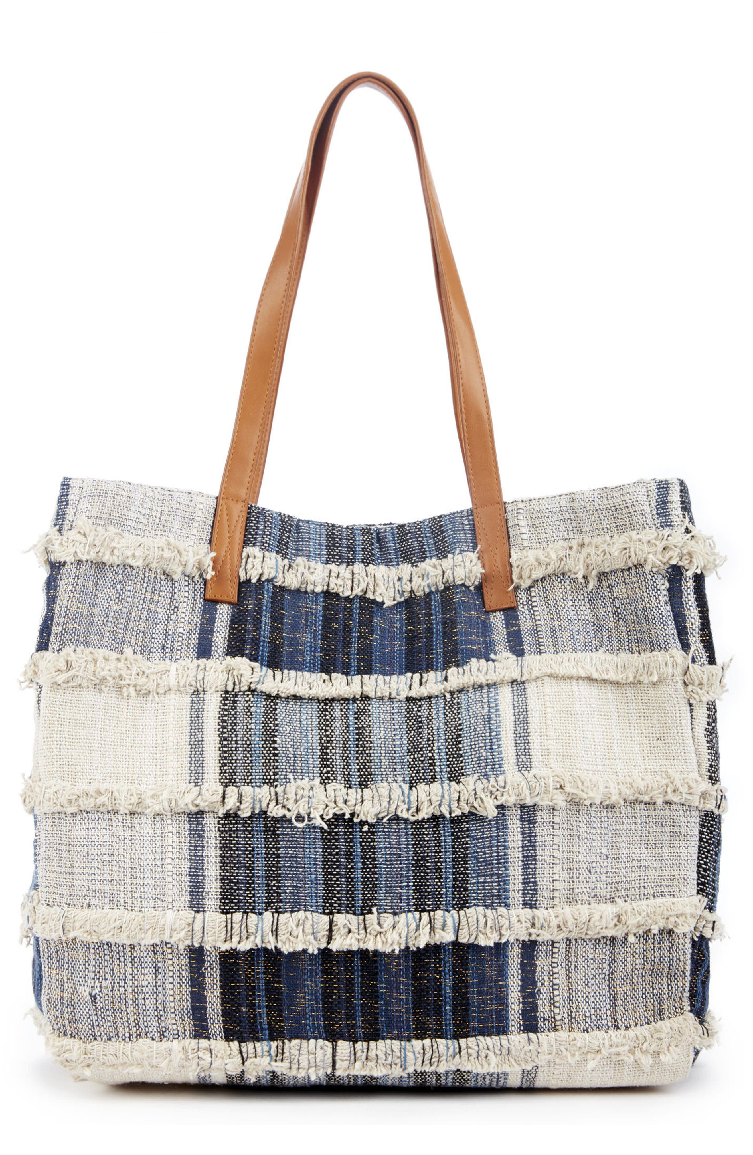 Sole Society Patchwork Denim Tote