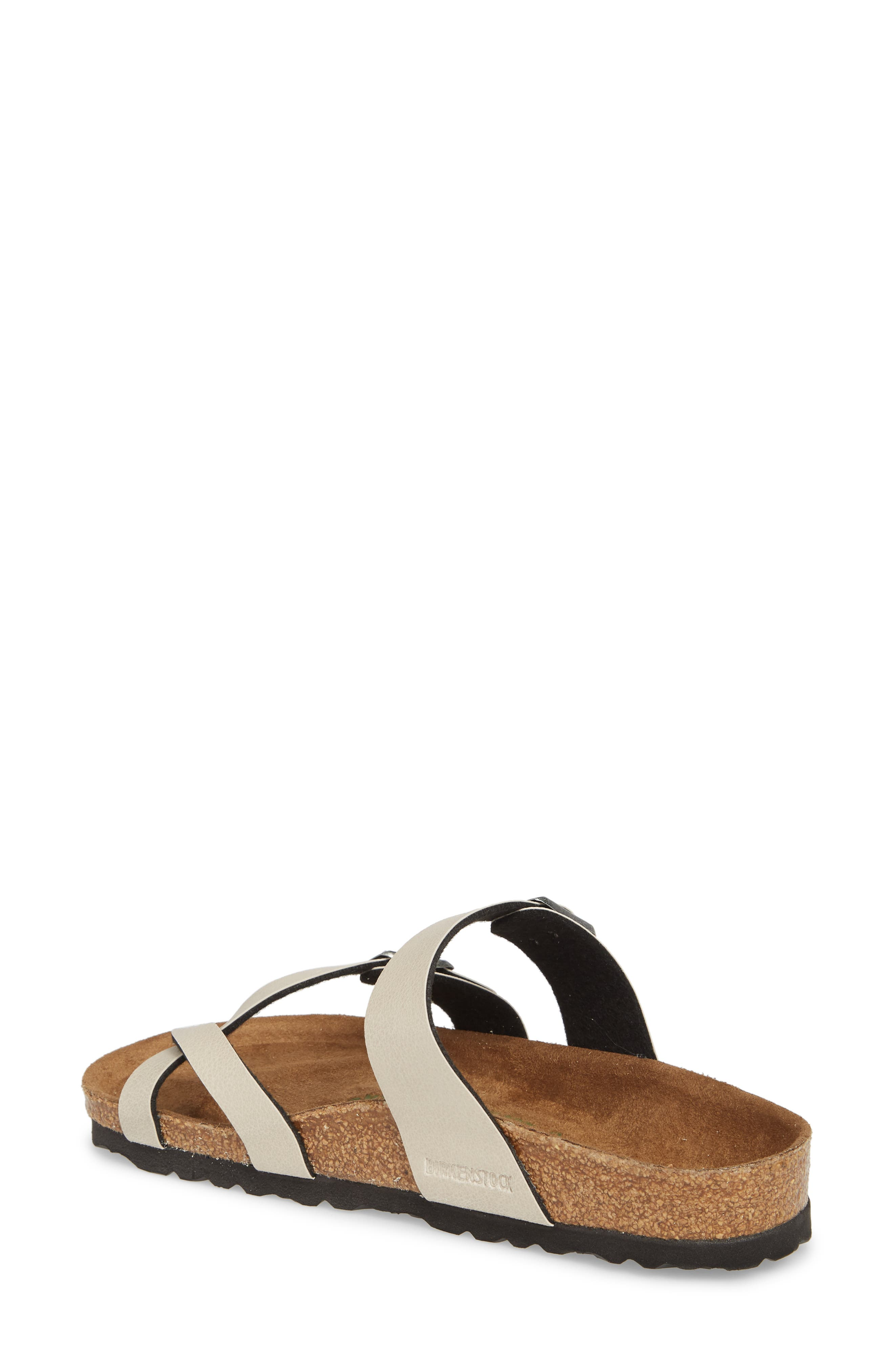 Mayari Birko-Flor<sup>™</sup> Slide Sandal,                             Alternate thumbnail 2, color,                             Pull Up Stone Faux Leather