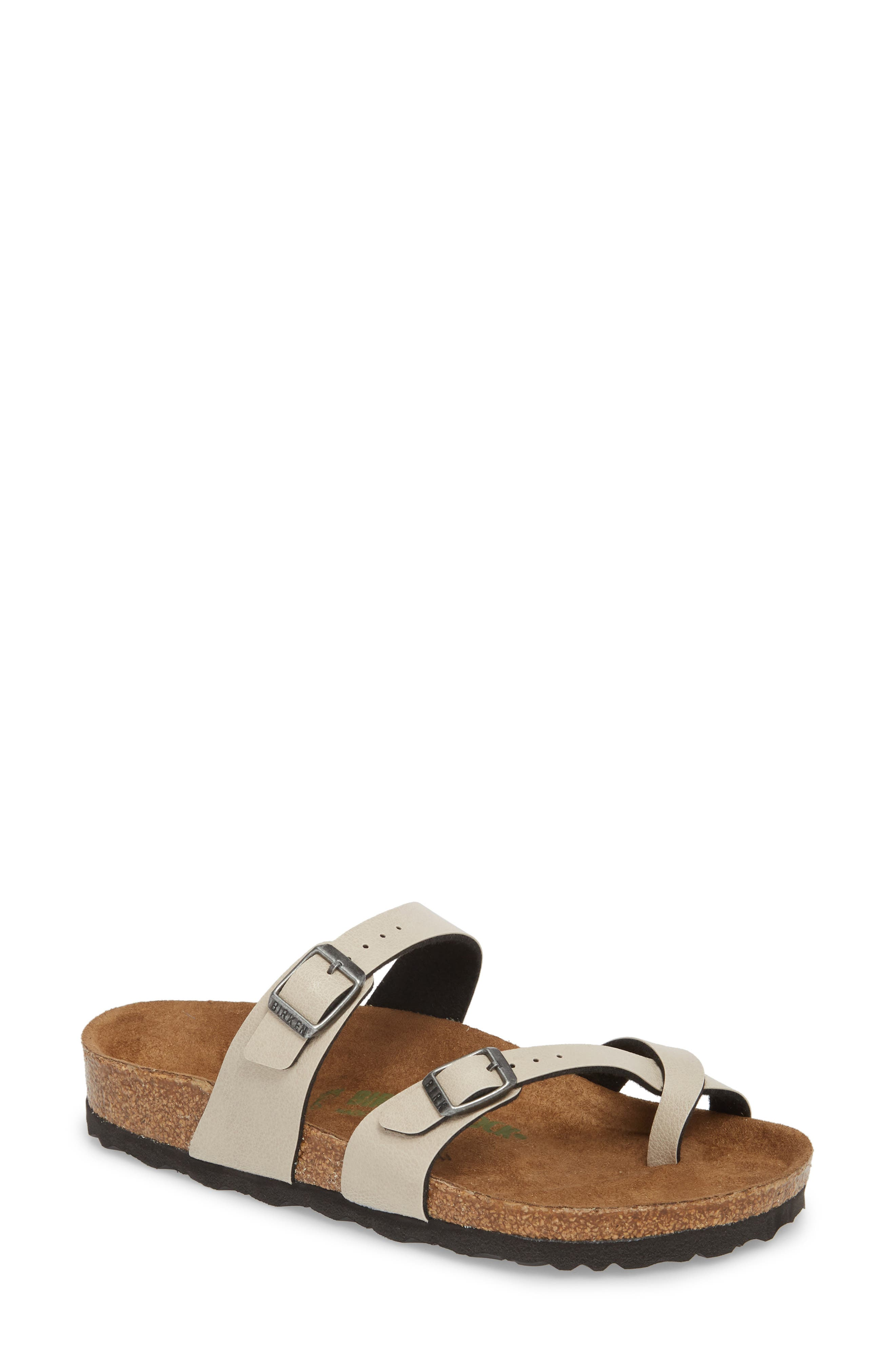 Mayari Birko-Flor<sup>™</sup> Slide Sandal,                             Main thumbnail 1, color,                             Pull Up Stone Faux Leather