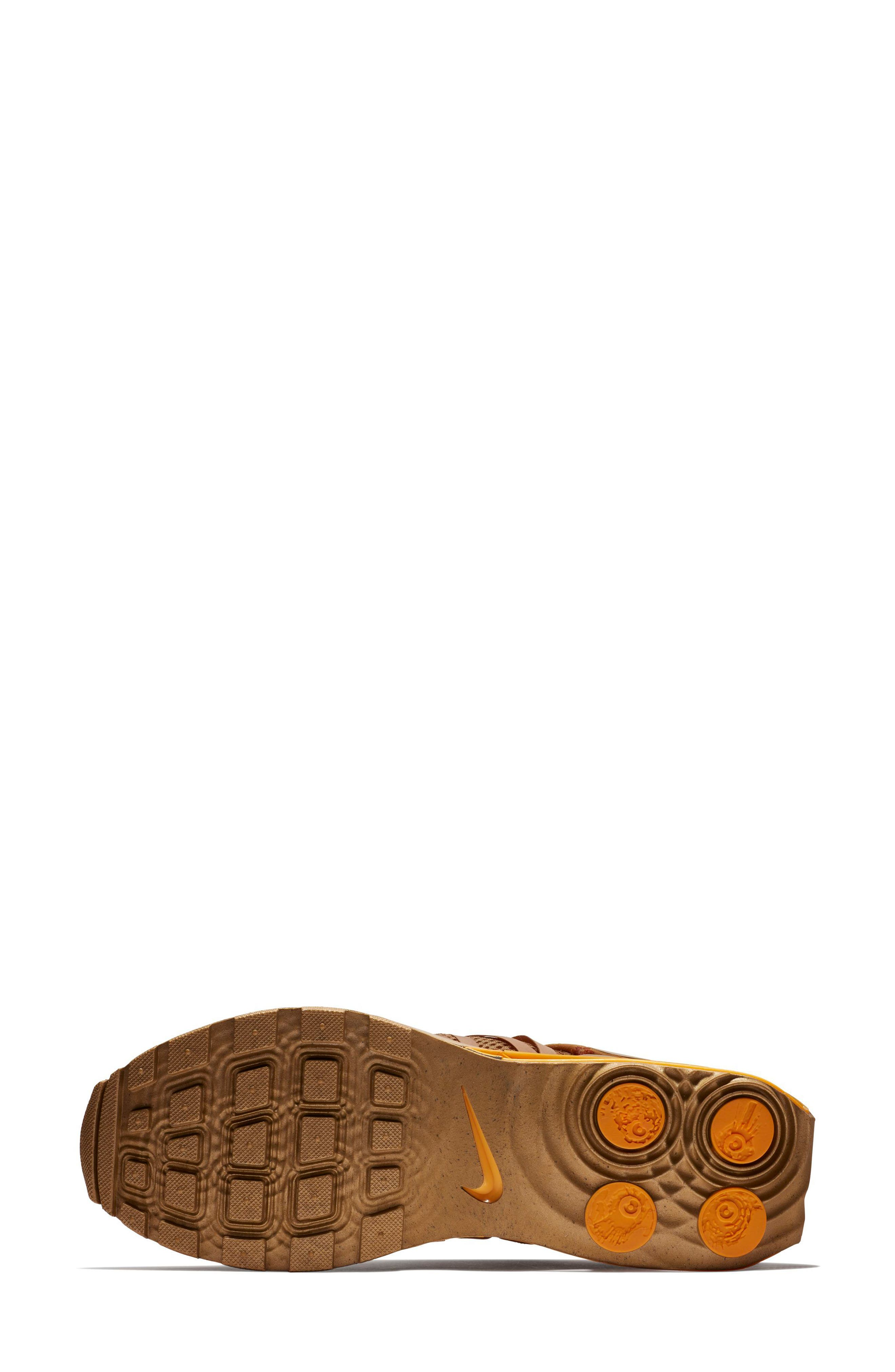 Shox Gravity Sneaker,                             Alternate thumbnail 5, color,                             Metallic Gold/ Metallic Gold