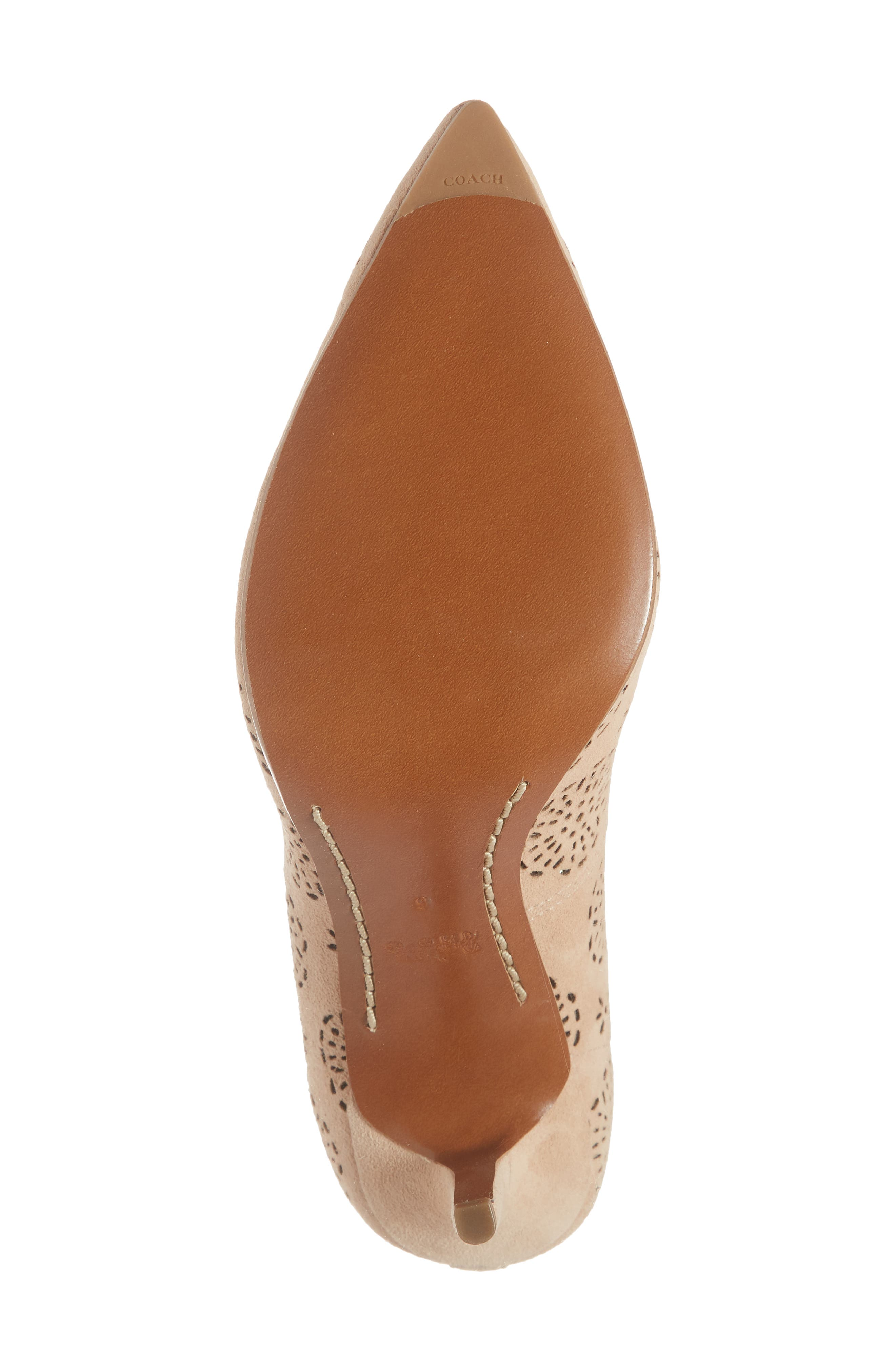 Waverly Tea Rose Perforated Pump,                             Alternate thumbnail 6, color,                             Beachwood Leather