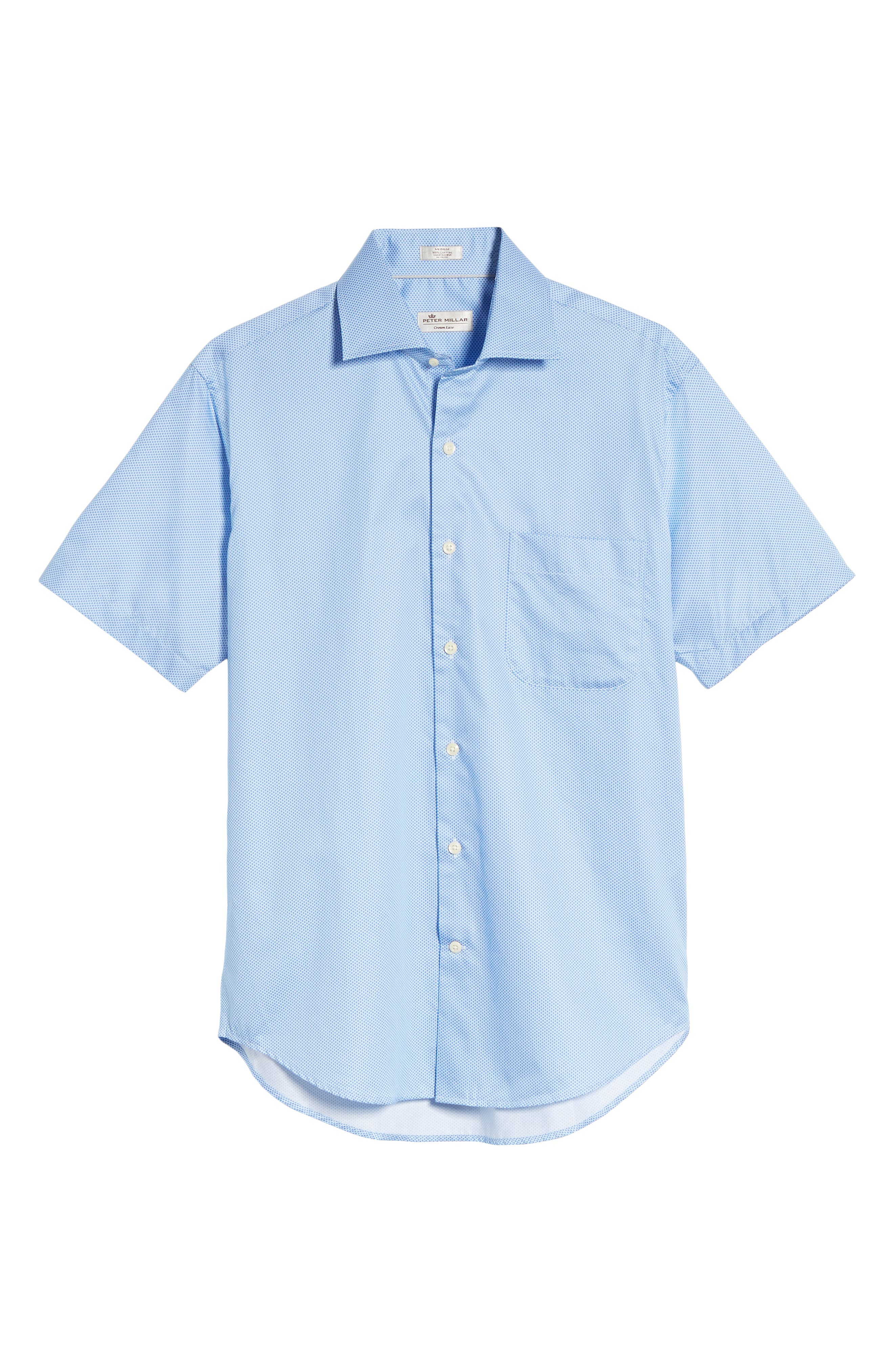 Crown Ease Connecting the Dots Sport Shirt,                             Alternate thumbnail 6, color,                             Atlas Blue