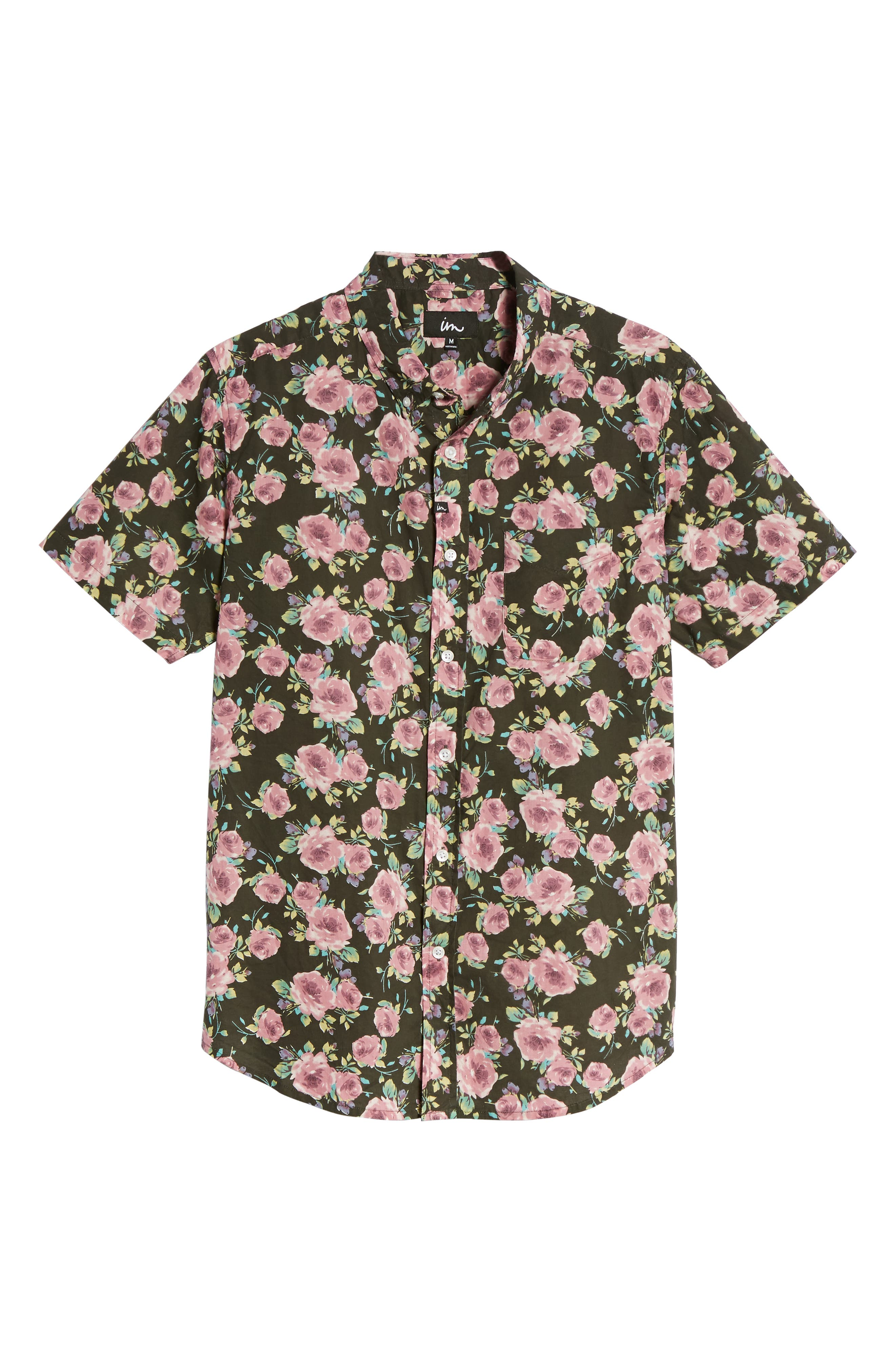 Nueva Woven Shirt,                             Alternate thumbnail 6, color,                             Black