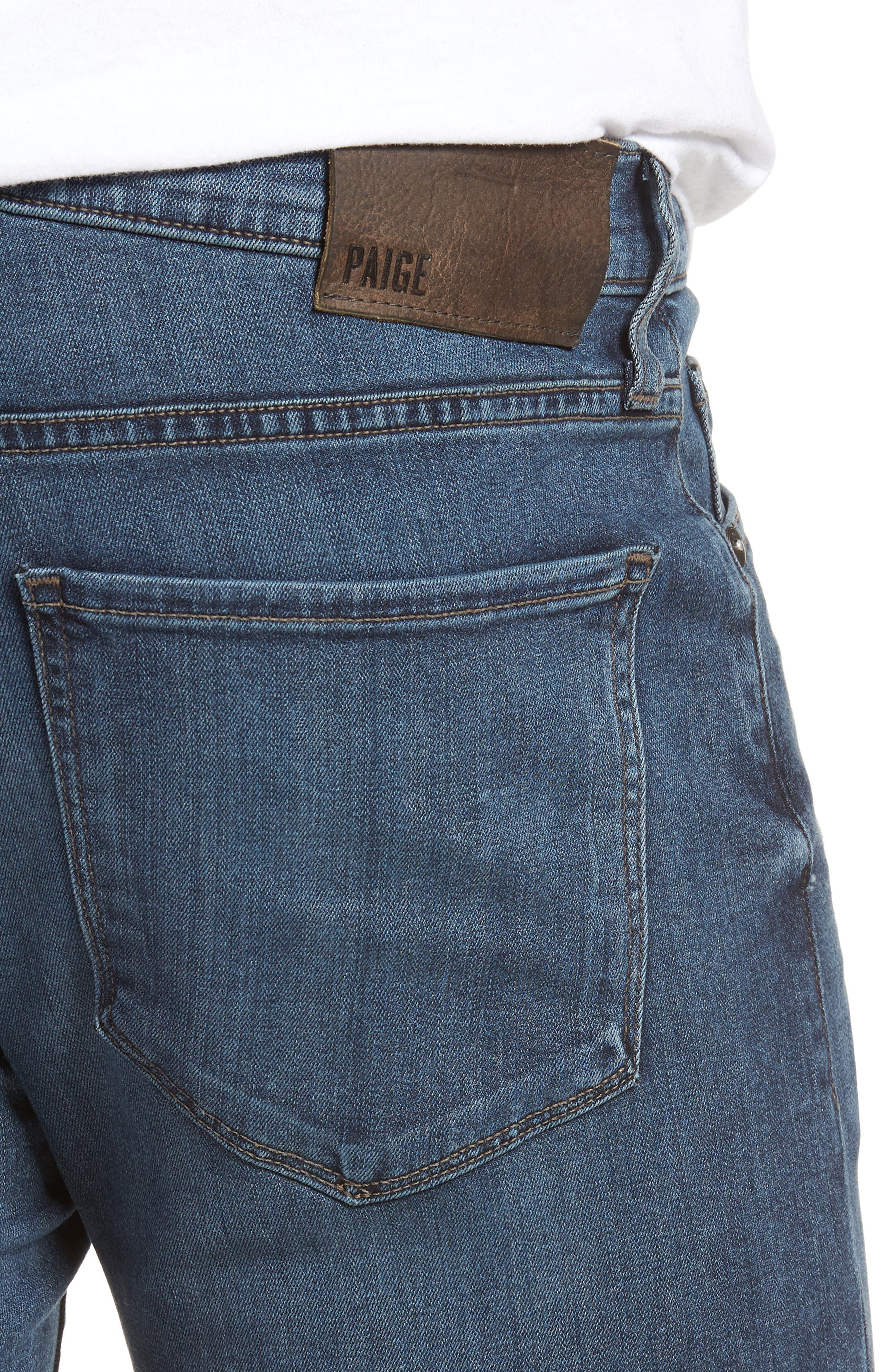 Transcend - Croft Skinny Fit Jeans,                             Alternate thumbnail 4, color,                             Grammercy