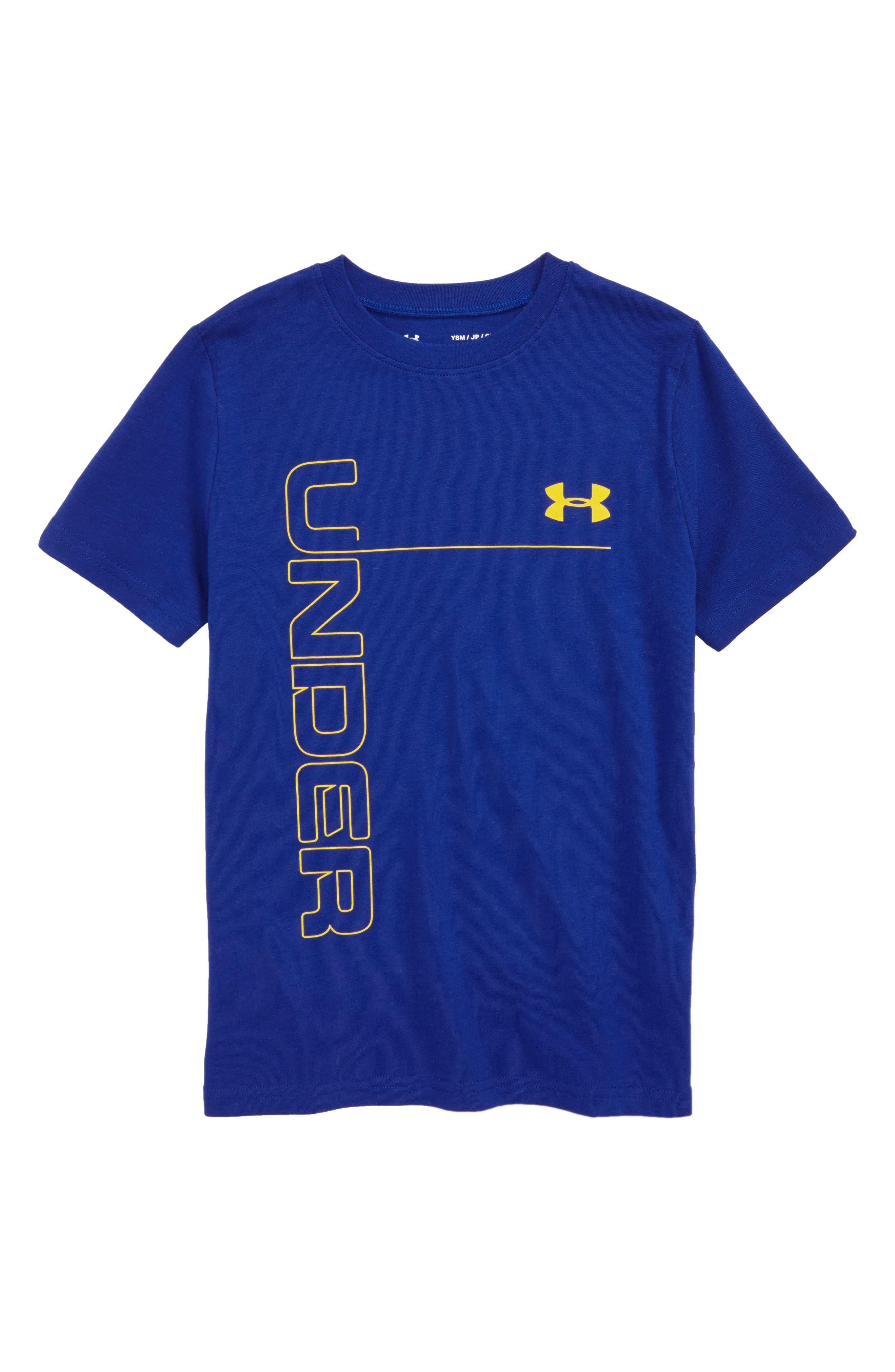 Logo Graphic HeatGear<sup>®</sup> T-Shirt,                             Main thumbnail 1, color,                             Royal/ Taxi