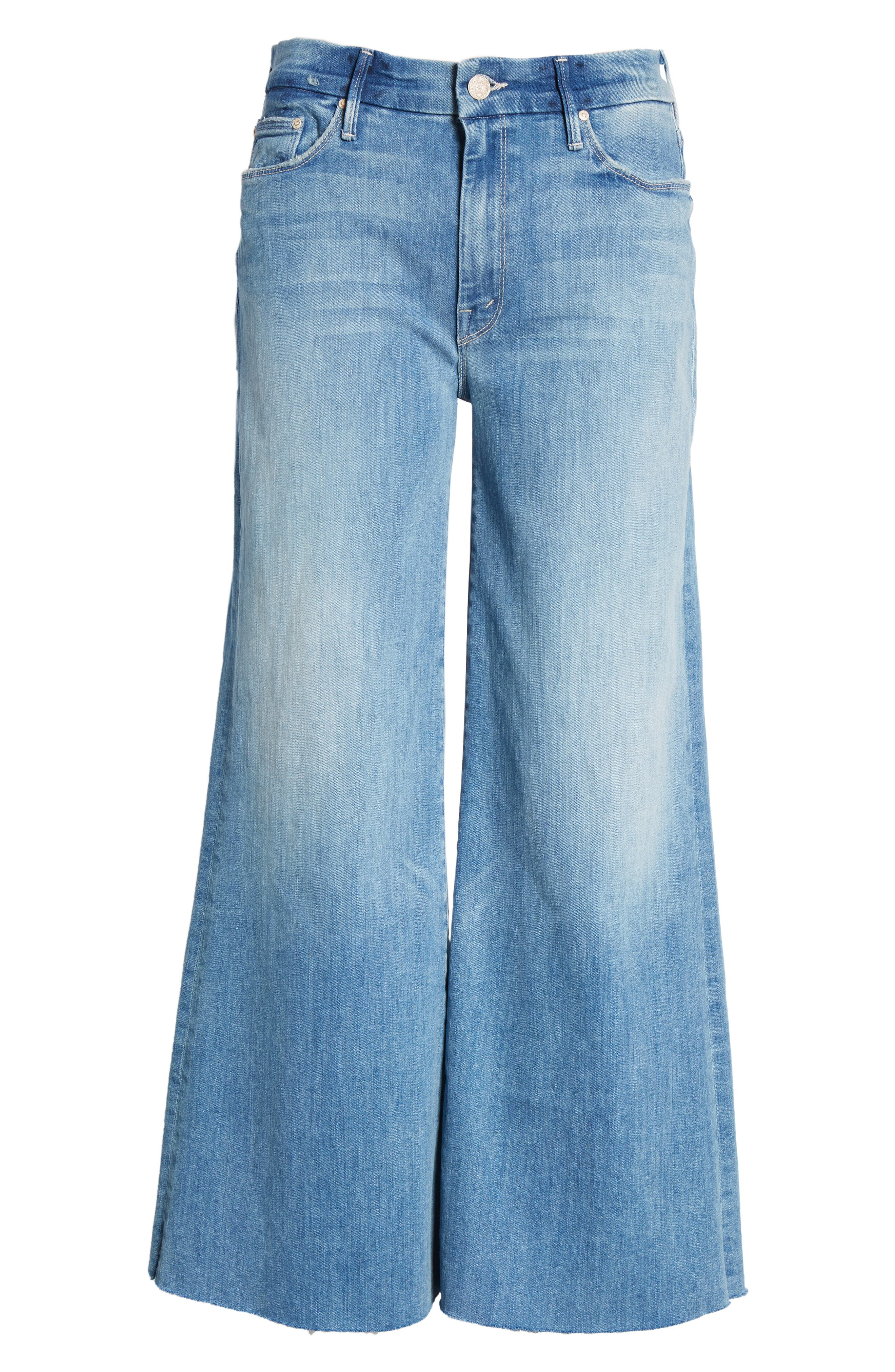 The Roller Crop Snippet Wide Leg Jeans,                             Alternate thumbnail 7, color,                             Well Played