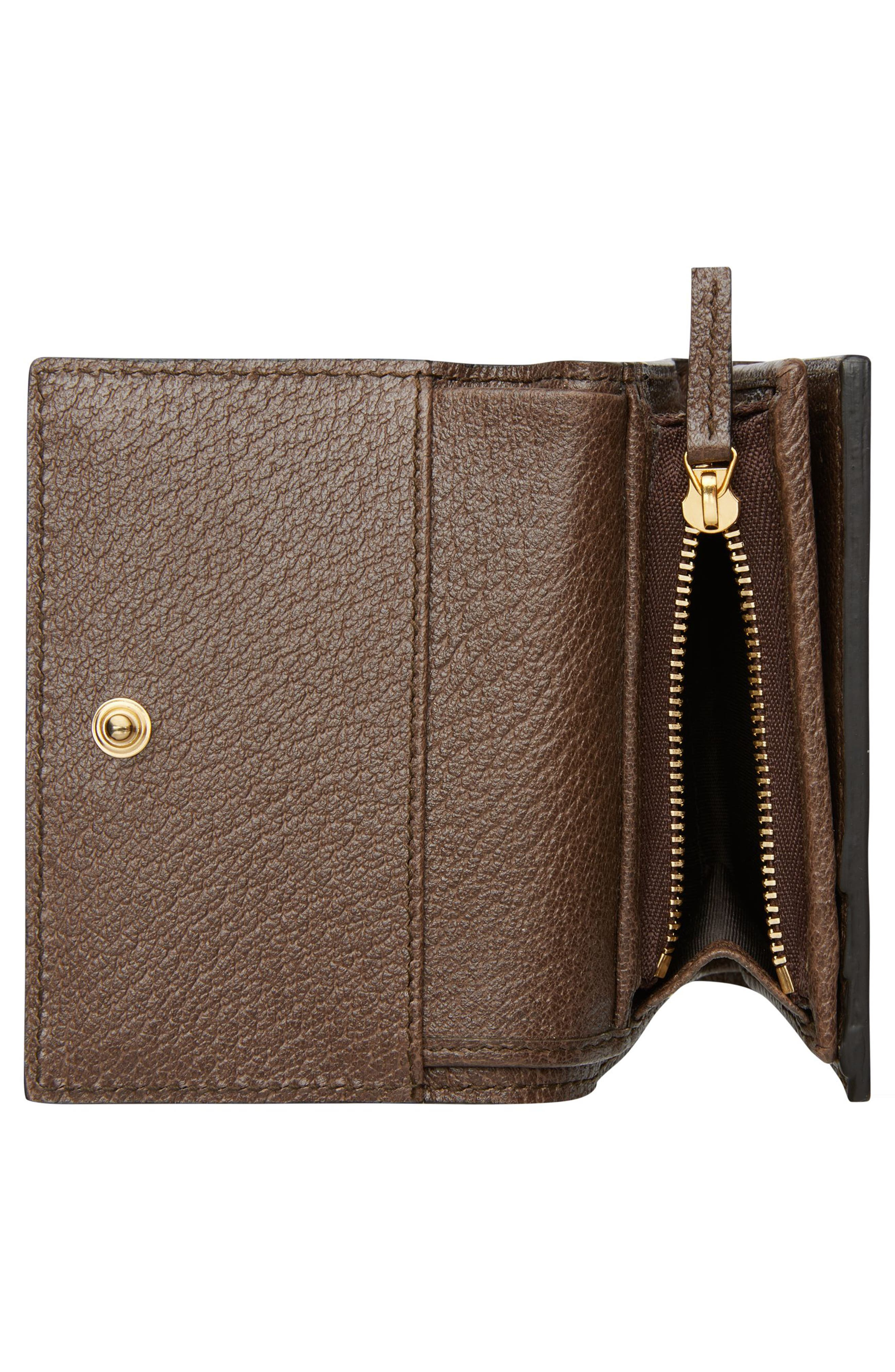 Ophidia GG Supreme French Wallet,                             Alternate thumbnail 3, color,                             Beige Ebony/ Acero/ Vert Red