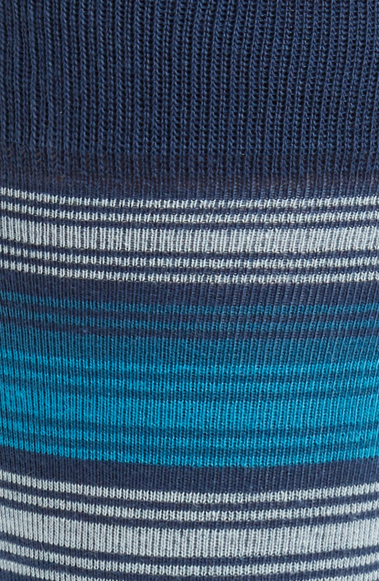 Spliced Block Stripe Socks,                             Alternate thumbnail 2, color,                             Navy/ Blue