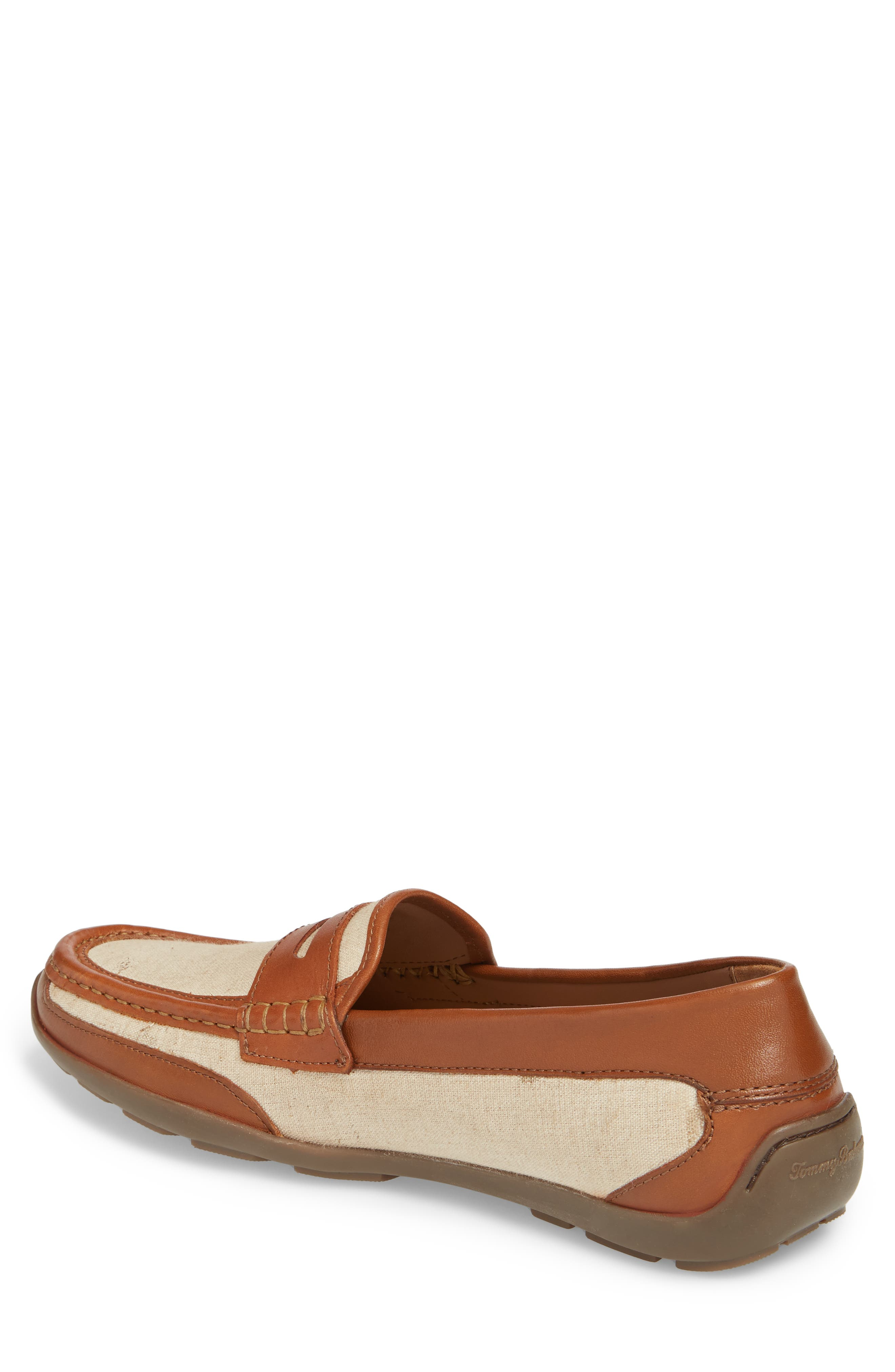 Taza Fronds Driving Shoe,                             Alternate thumbnail 2, color,                             Brown/ Natural Leather/ Linen