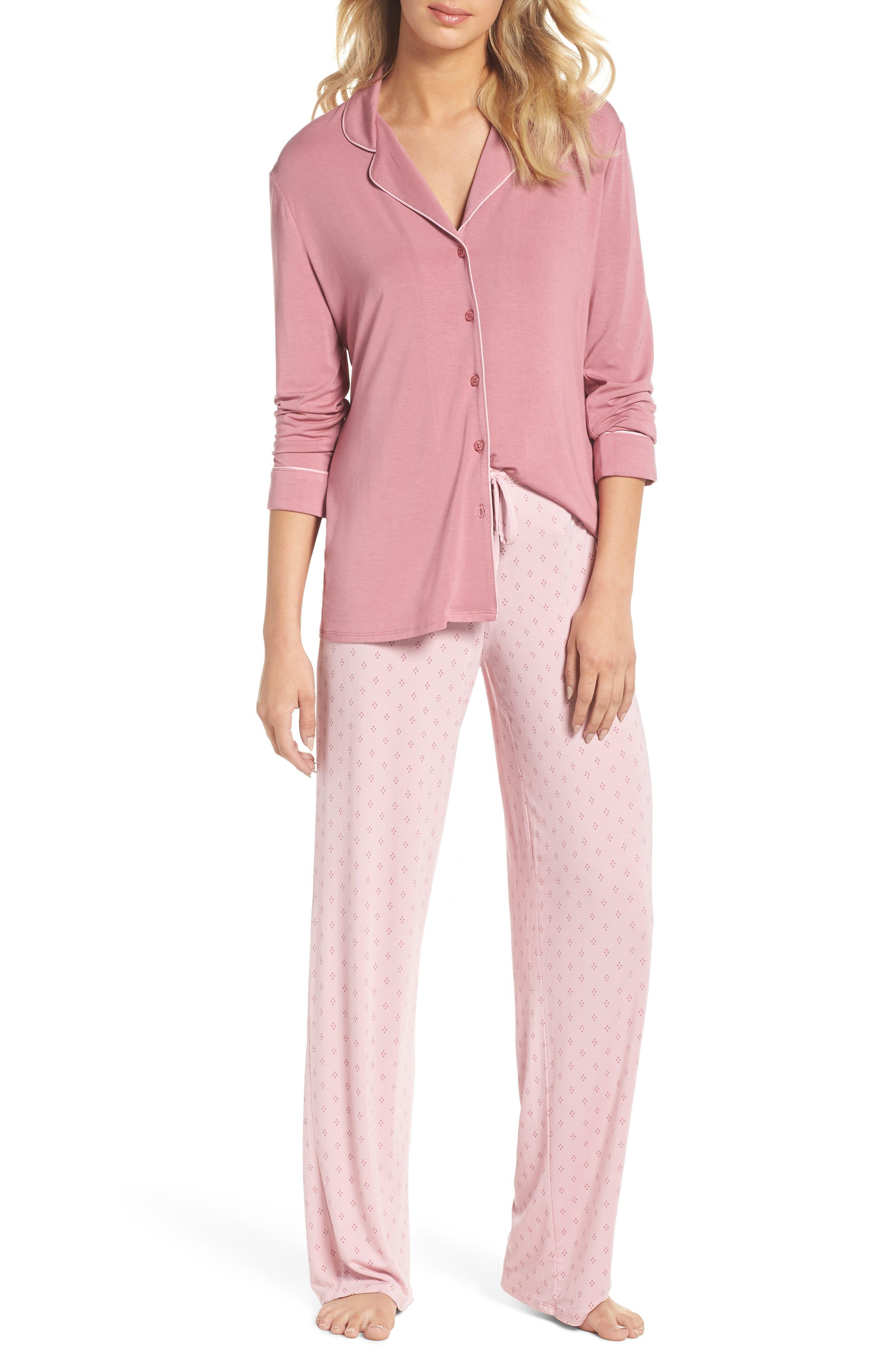 Moonlight Pajamas,                             Main thumbnail 1, color,                             Purple Mesa Geo Diamond