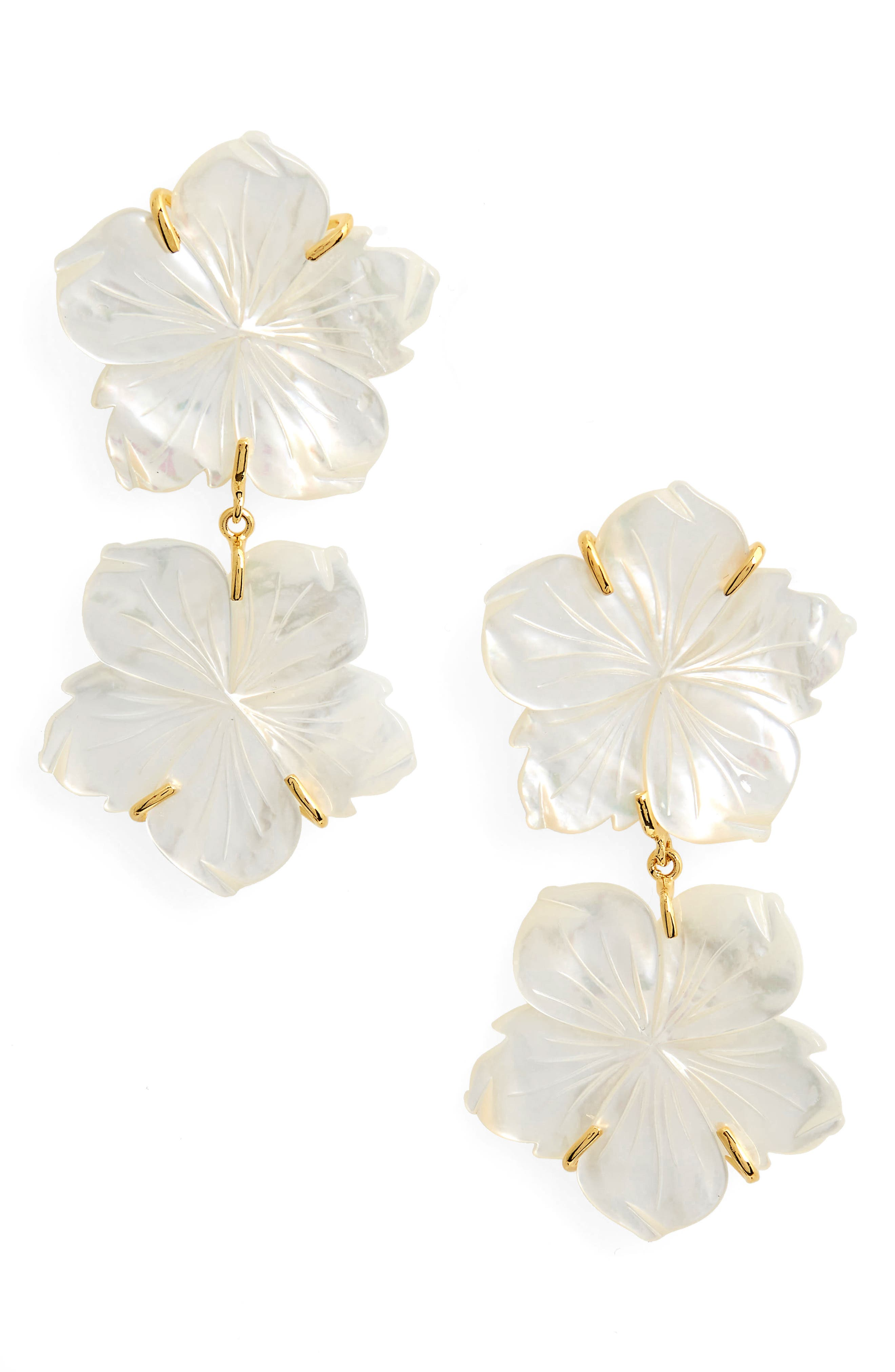 Paperwhite Drop Earrings,                             Main thumbnail 1, color,                             Multi