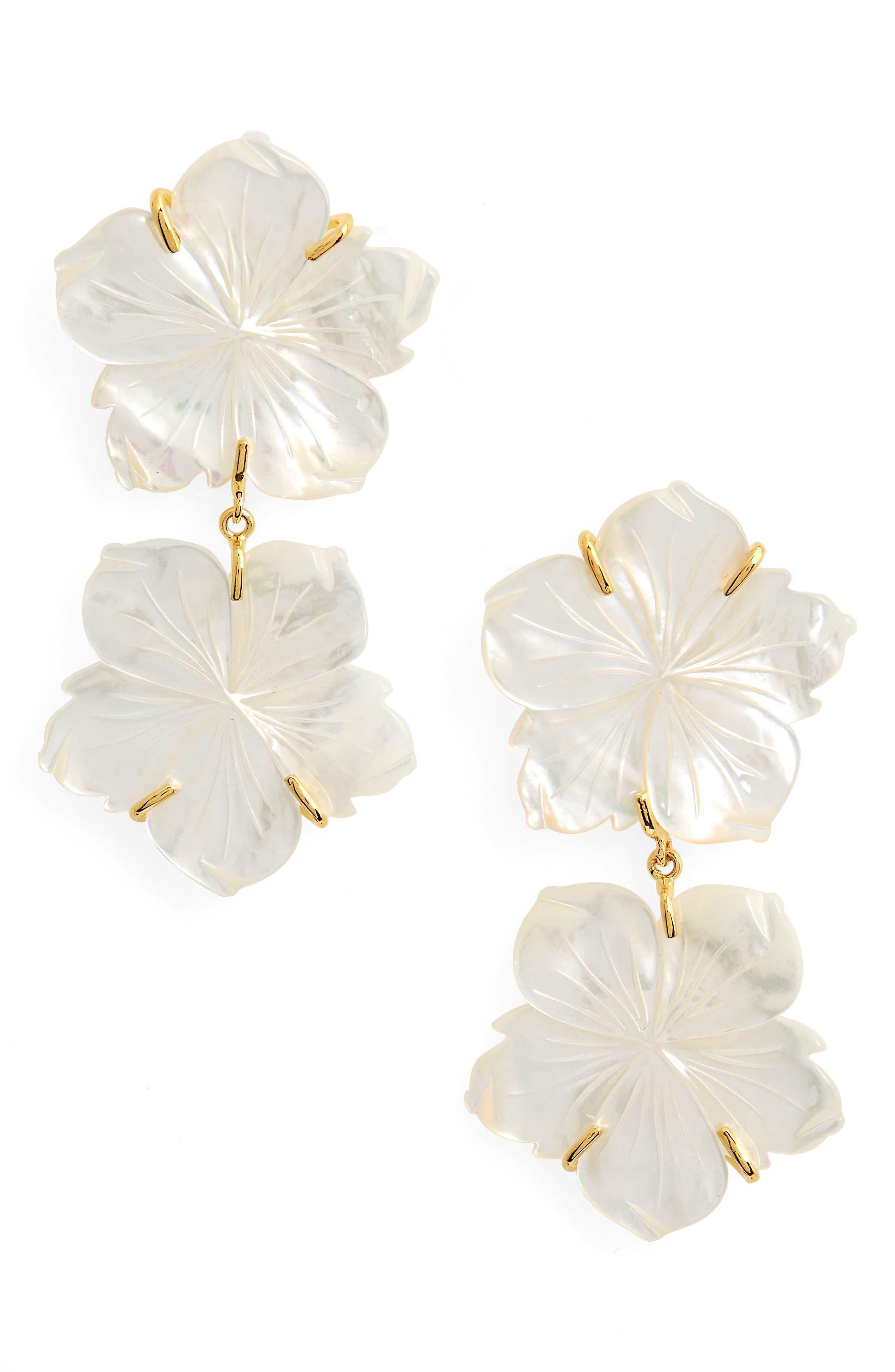 Paperwhite Drop Earrings,                         Main,                         color, Multi
