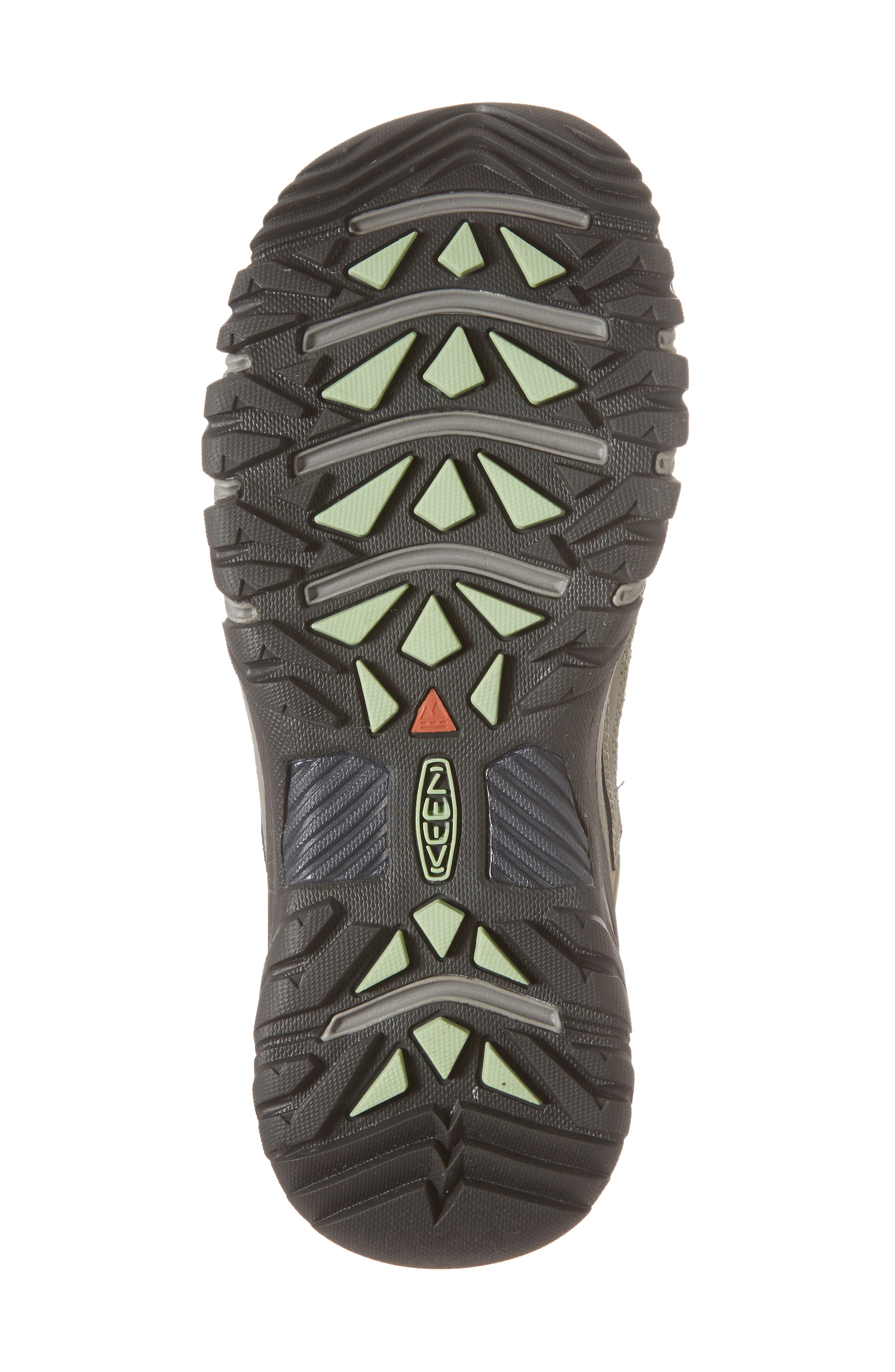Targhee Vent Mid Hiking Shoe,                             Alternate thumbnail 6, color,                             Fumo/ Quiet Green Leather