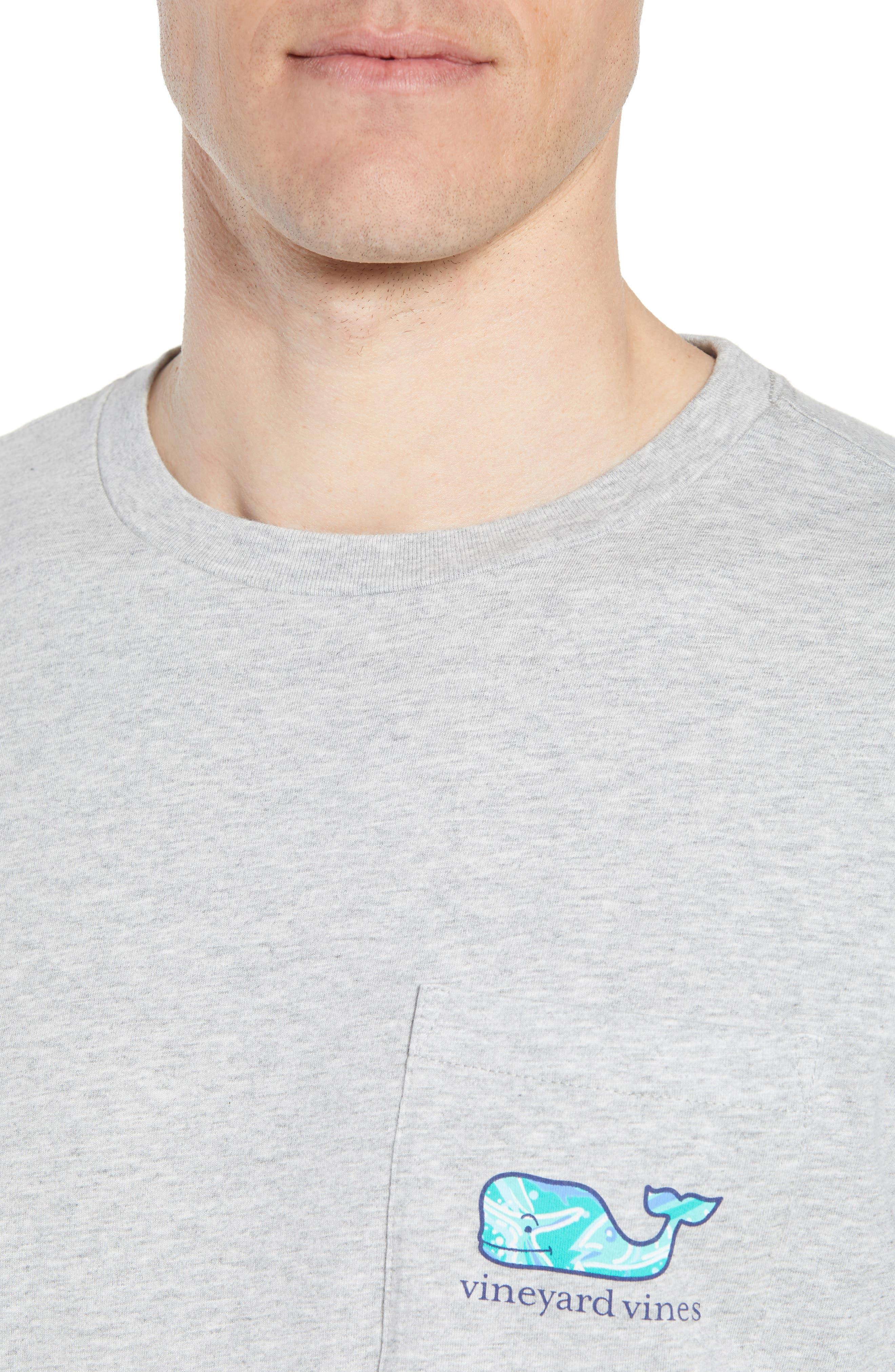 School of Tuna Regular Fit Pocket T-Shirt,                             Alternate thumbnail 4, color,                             Gray Heather