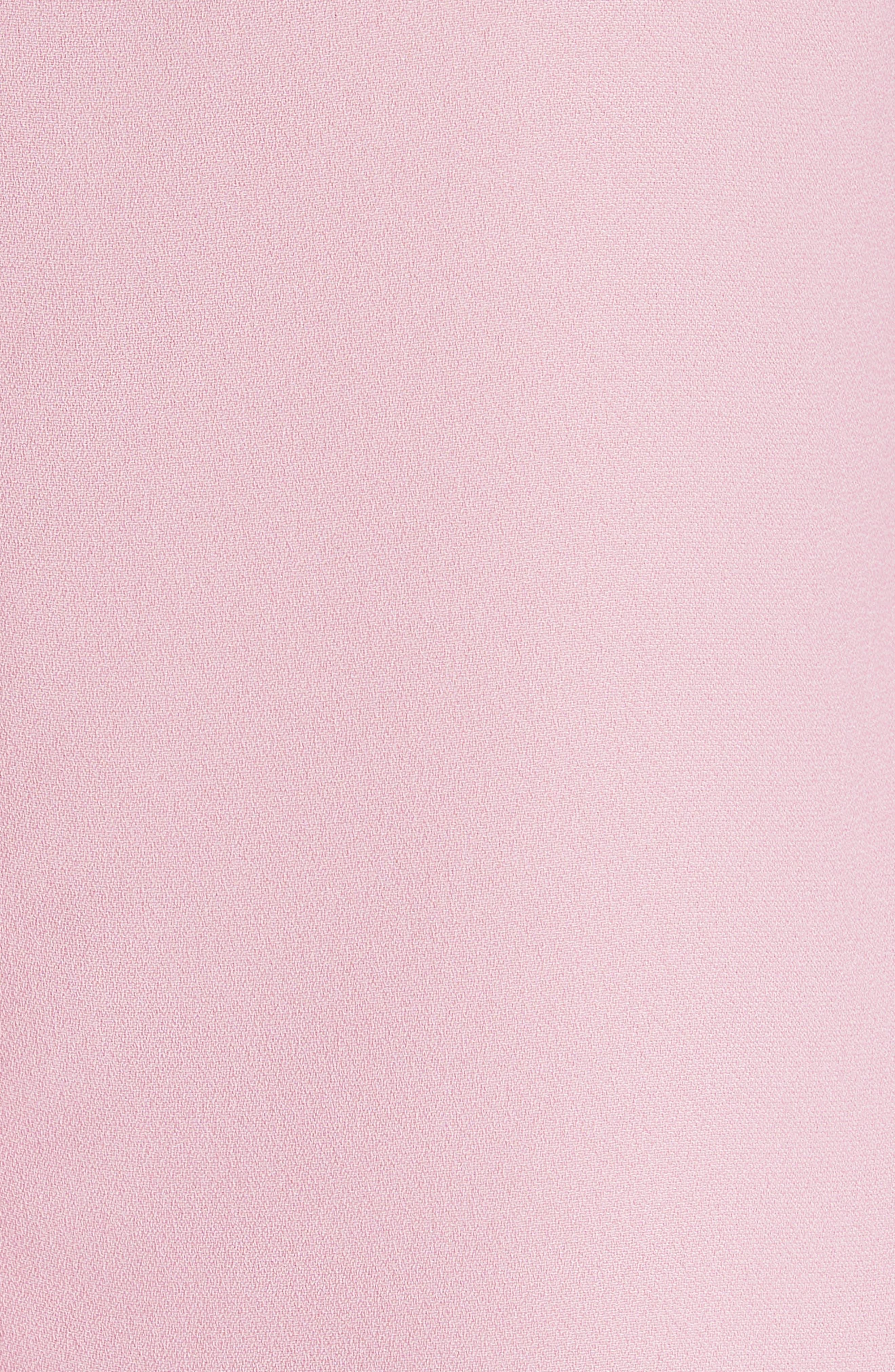 Juula Waterfall Sleeve Top,                             Alternate thumbnail 5, color,                             Dusky Pink