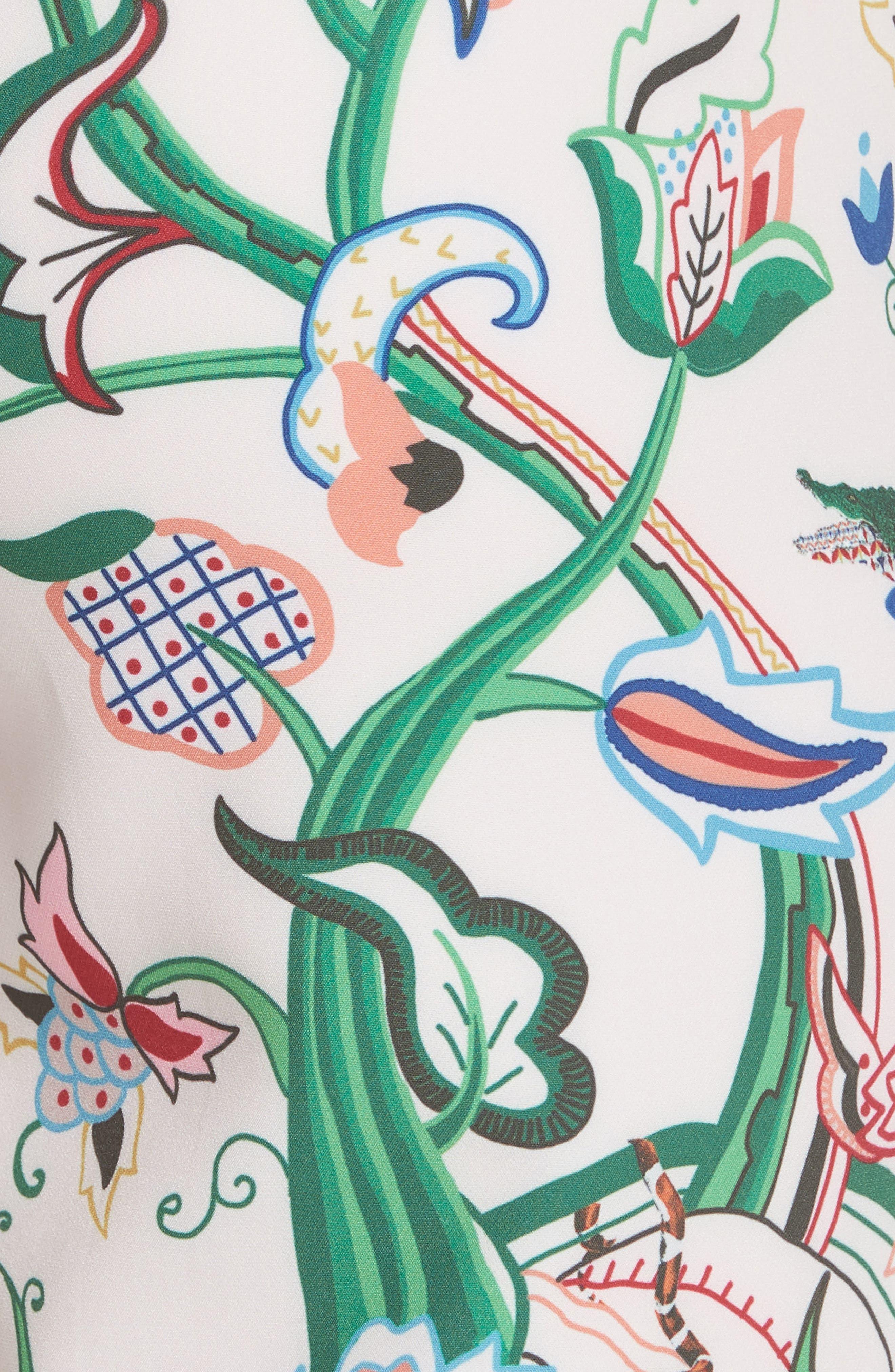Tachi Jungle Print Trousers,                             Alternate thumbnail 5, color,                             Dusky Pink