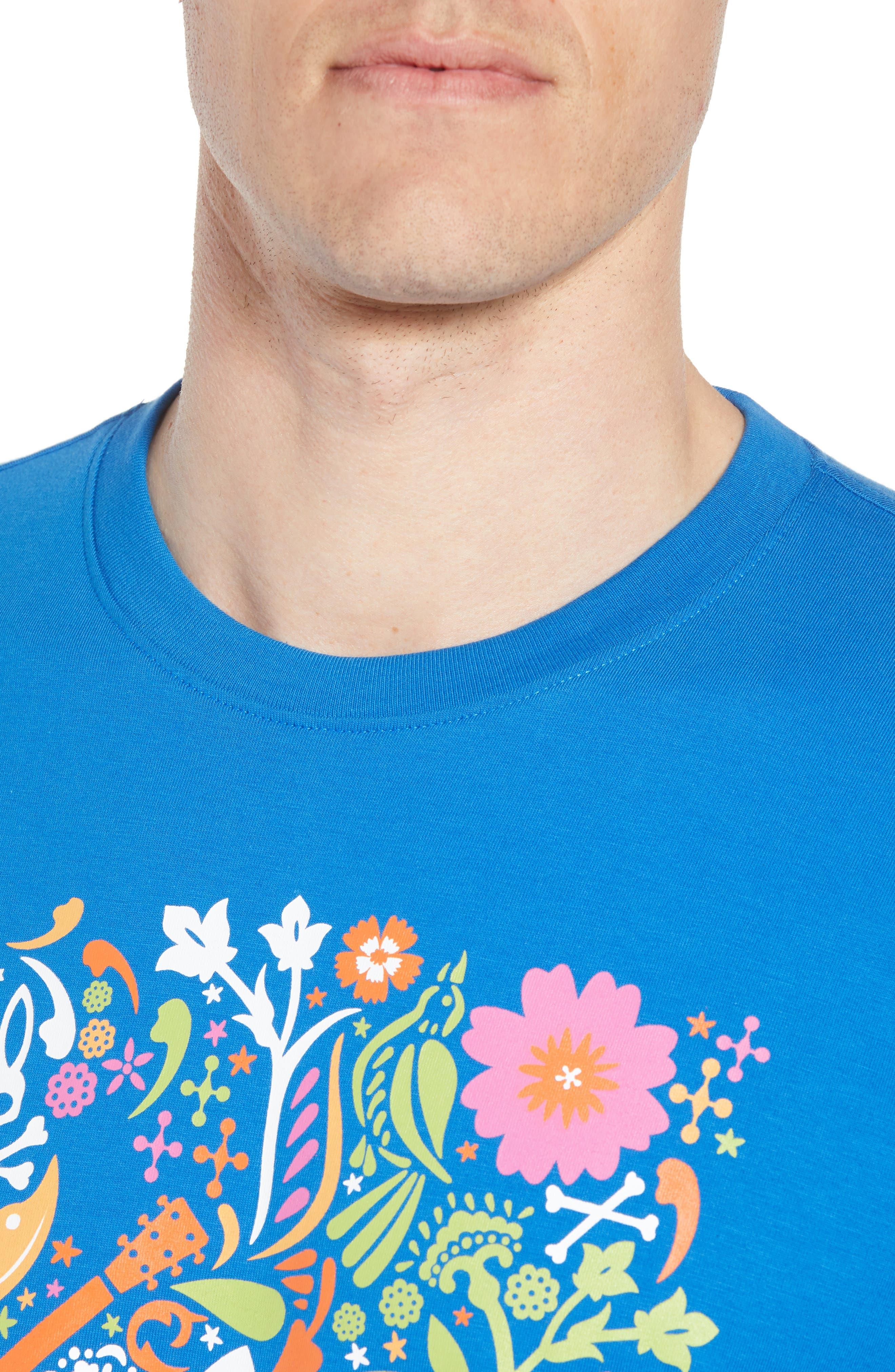 Graphic T-Shirt,                             Alternate thumbnail 4, color,                             Daphne