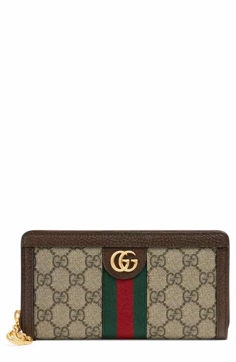 a7f08a5ce9a Gucci Ophidia GG Supreme Zip-Around Wallet