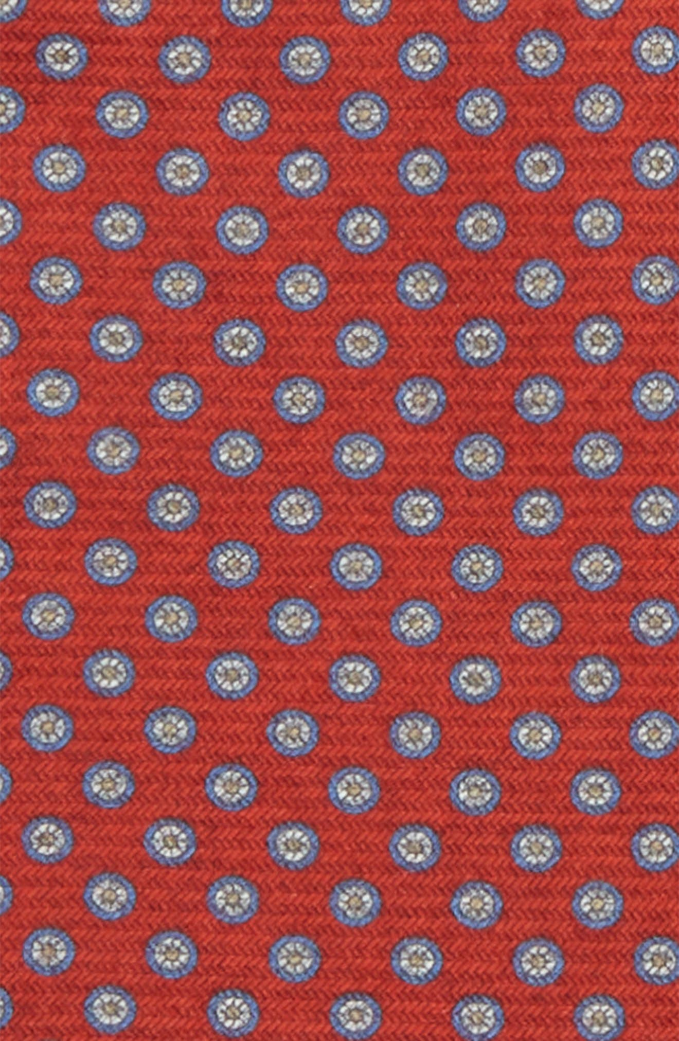 Medallion Pocket Square,                             Alternate thumbnail 3, color,                             Red