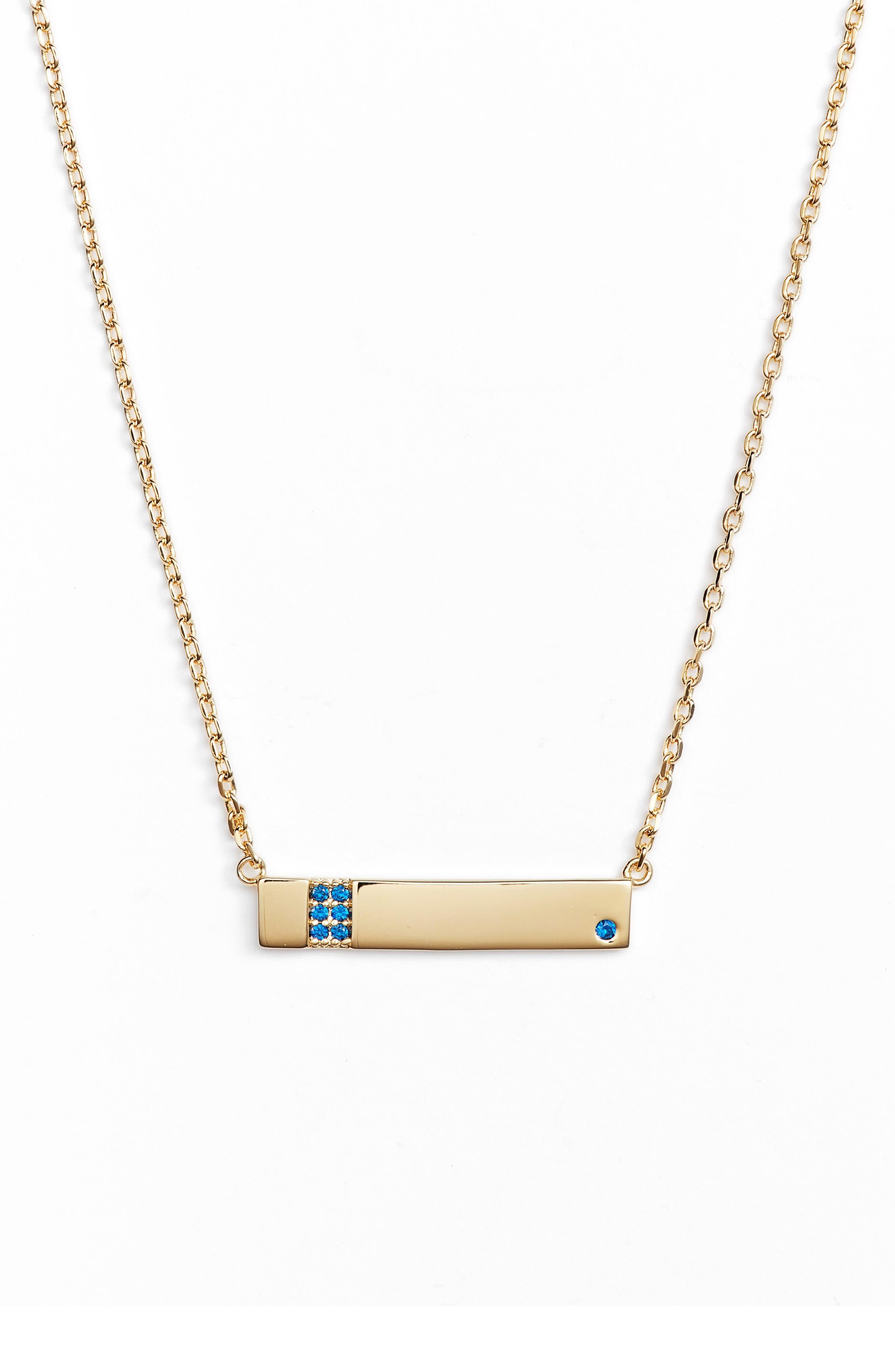 Lulu DK x We Wore What Horizontal Bar Pendant Necklace