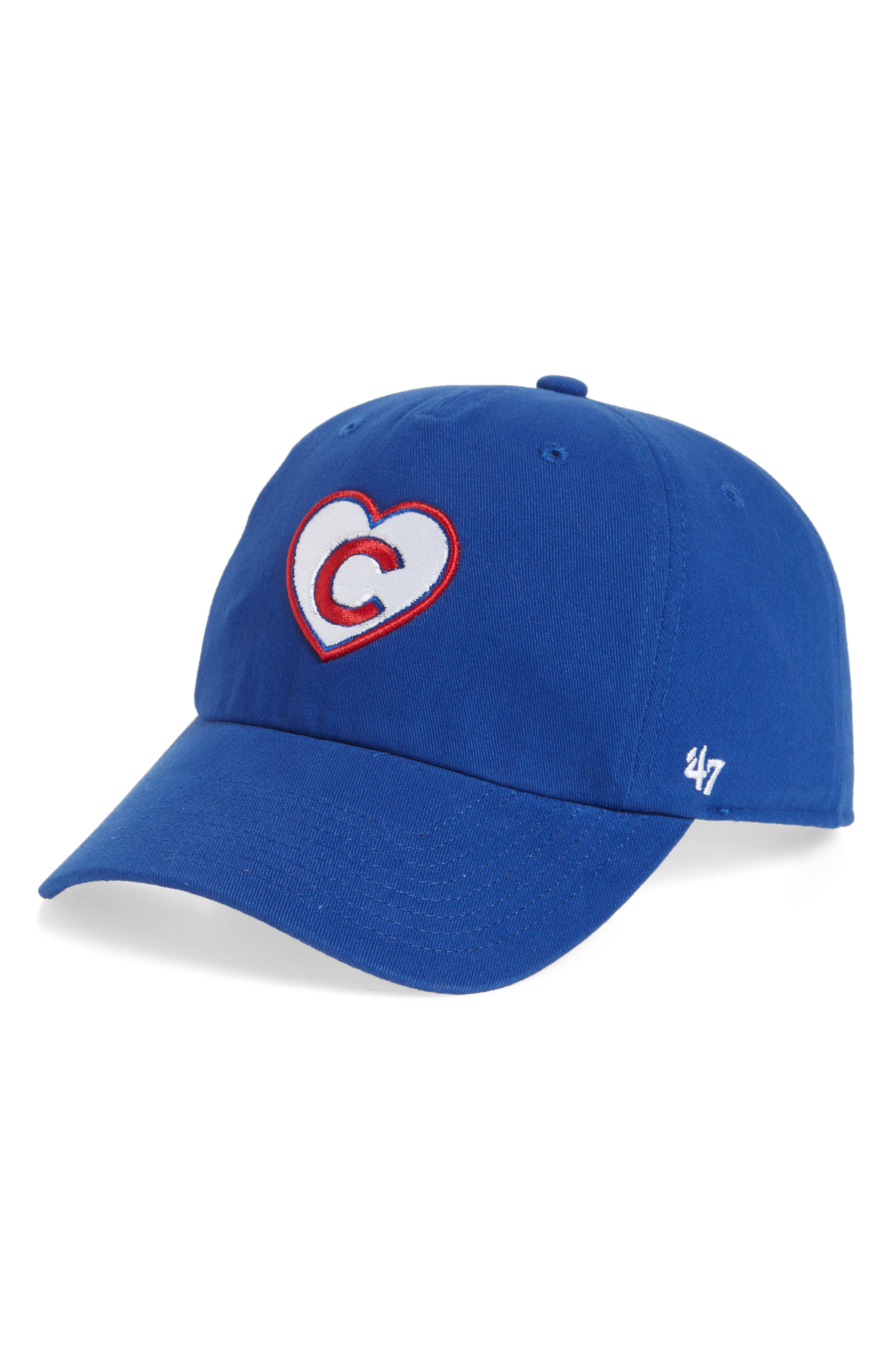 Courtney Clean-Up Chicago Cubs Baseball Cap,                         Main,                         color, Blue