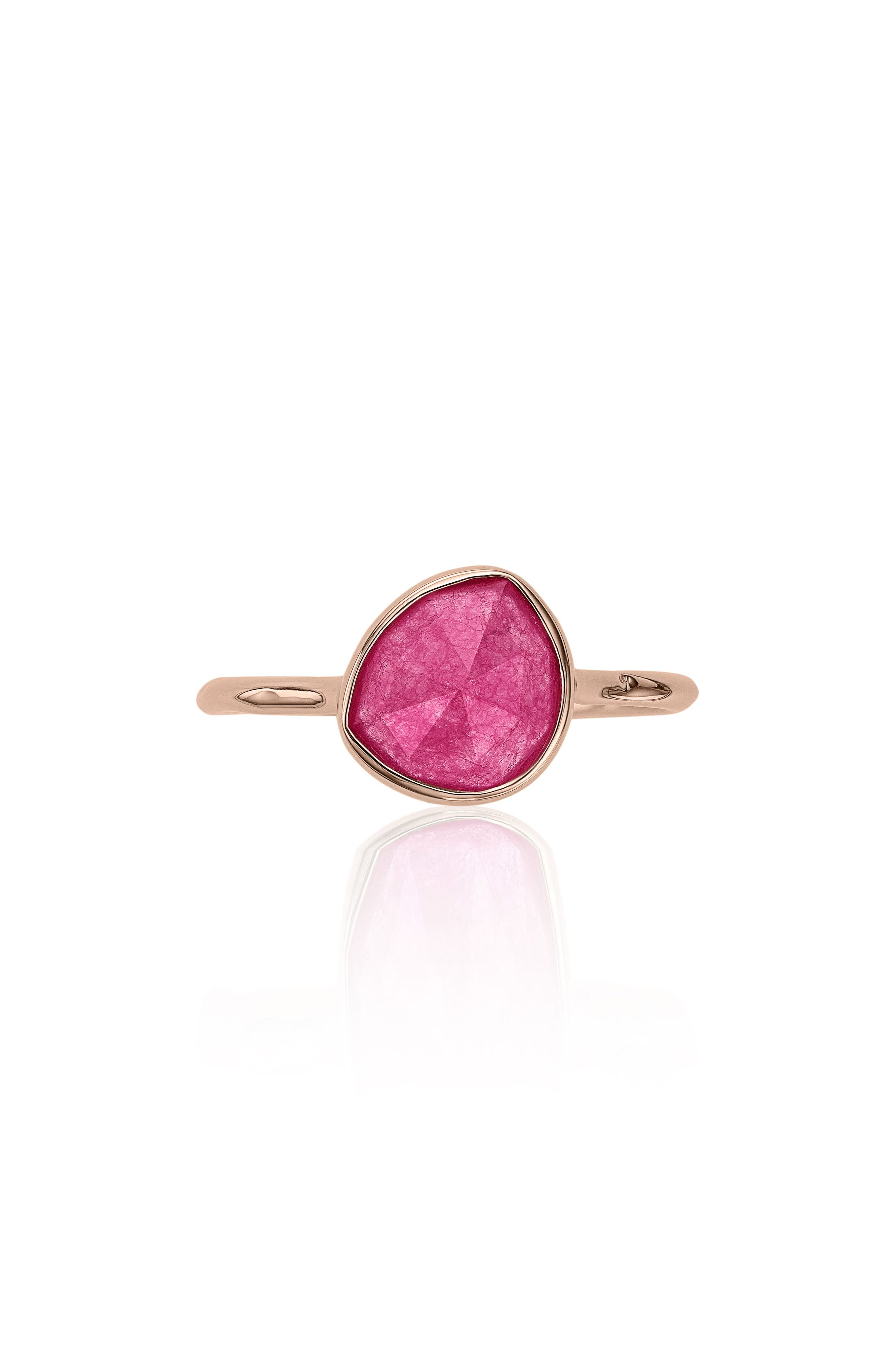 Siren Semiprecious Stone Stacking Ring,                         Main,                         color, Pink Quartz/ Rose Gold